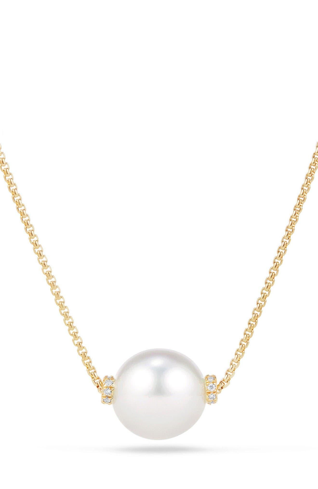 David Yurman Solari Pearl Station Necklace