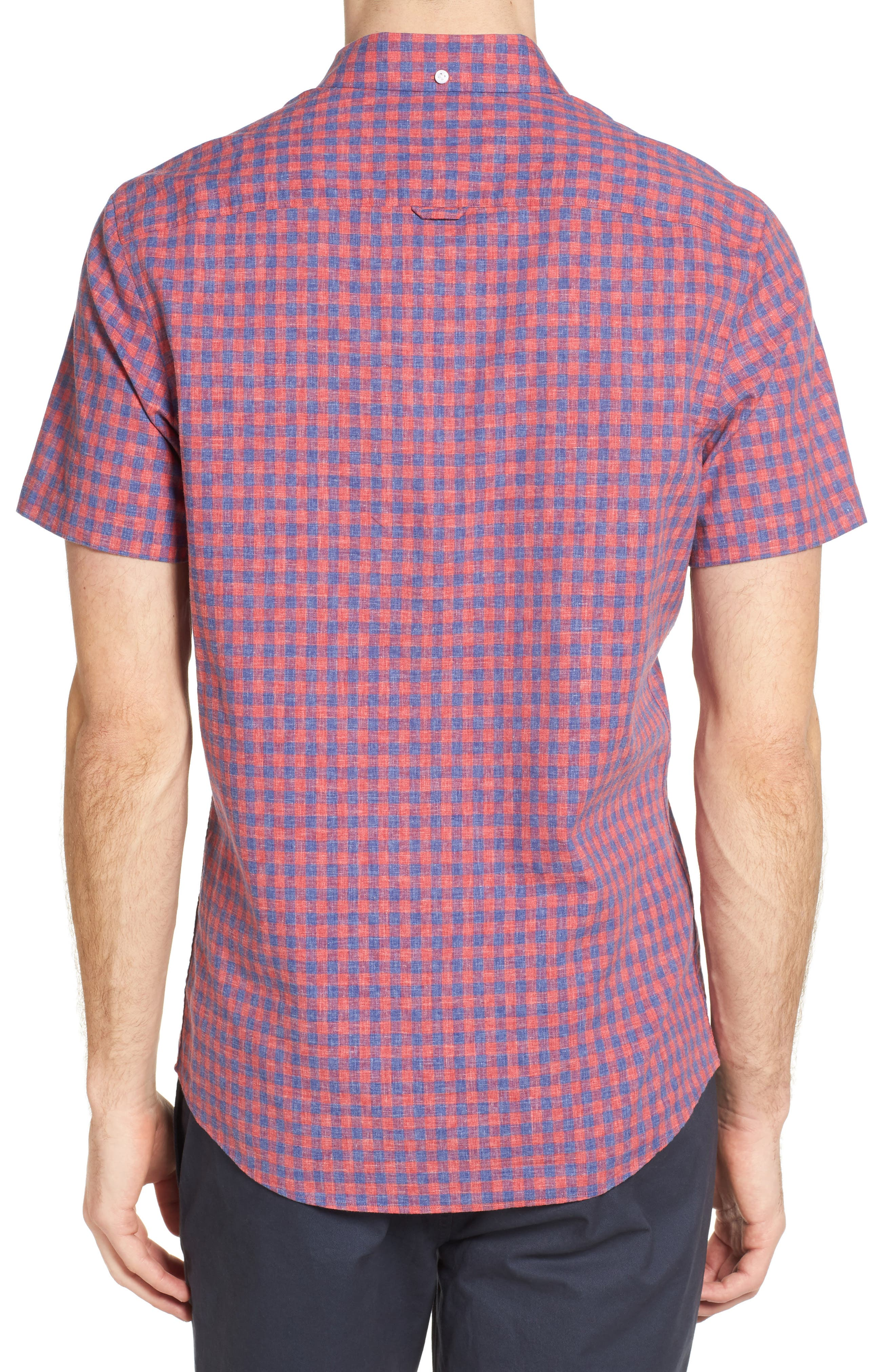 Slim Fit Gingham Check Sport Shirt,                             Alternate thumbnail 2, color,                             Red Chateaux Gingham