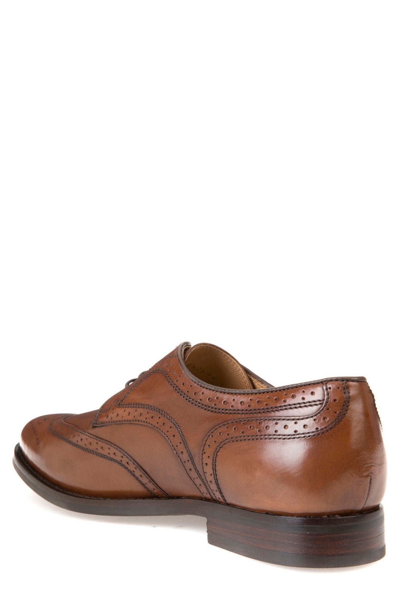 Hampstead 5 Wingtip,                             Alternate thumbnail 2, color,                             Dark Cognac Leather