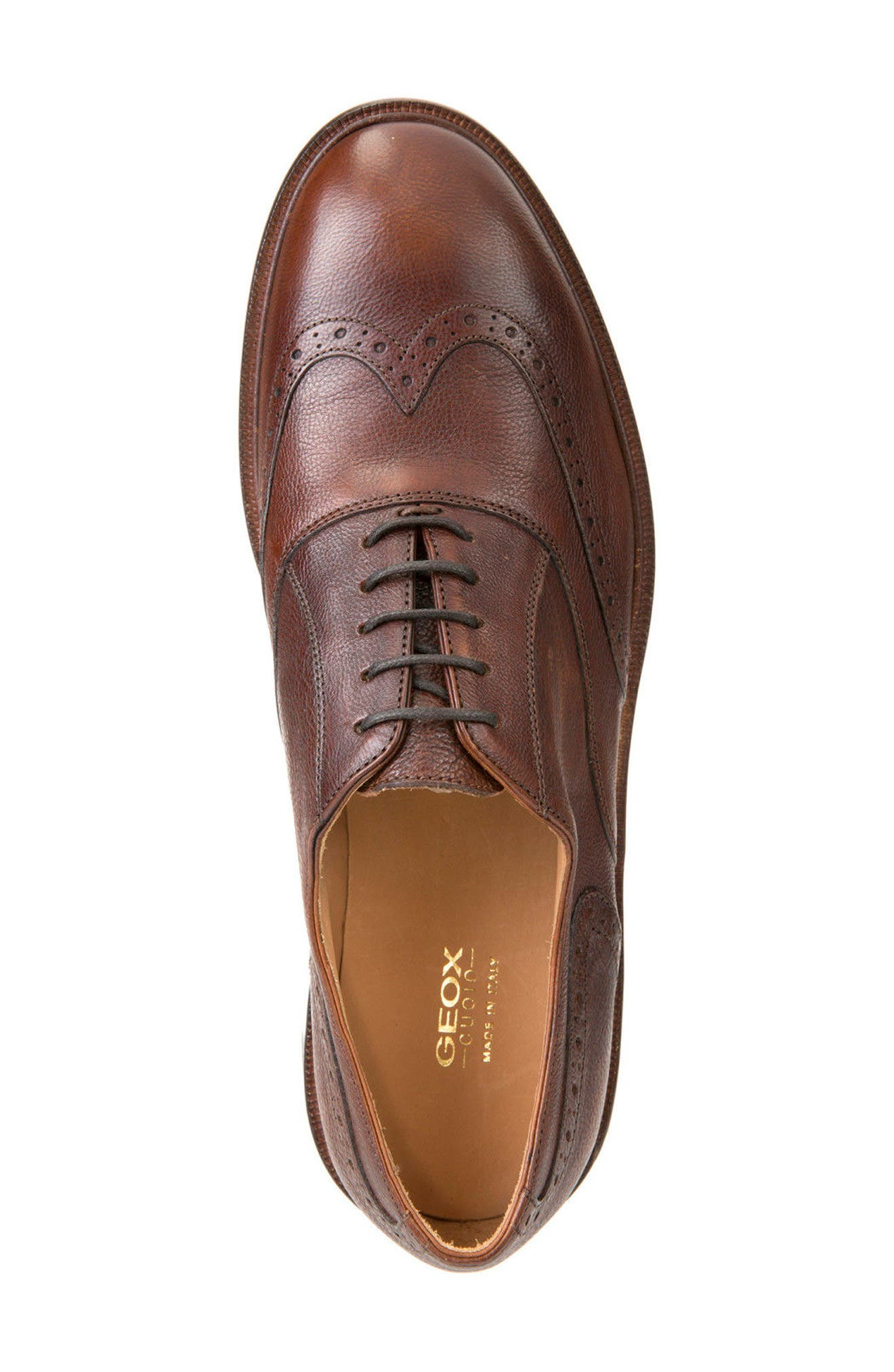 Guildford 9 Wingtip,                             Alternate thumbnail 3, color,                             Brown Leather