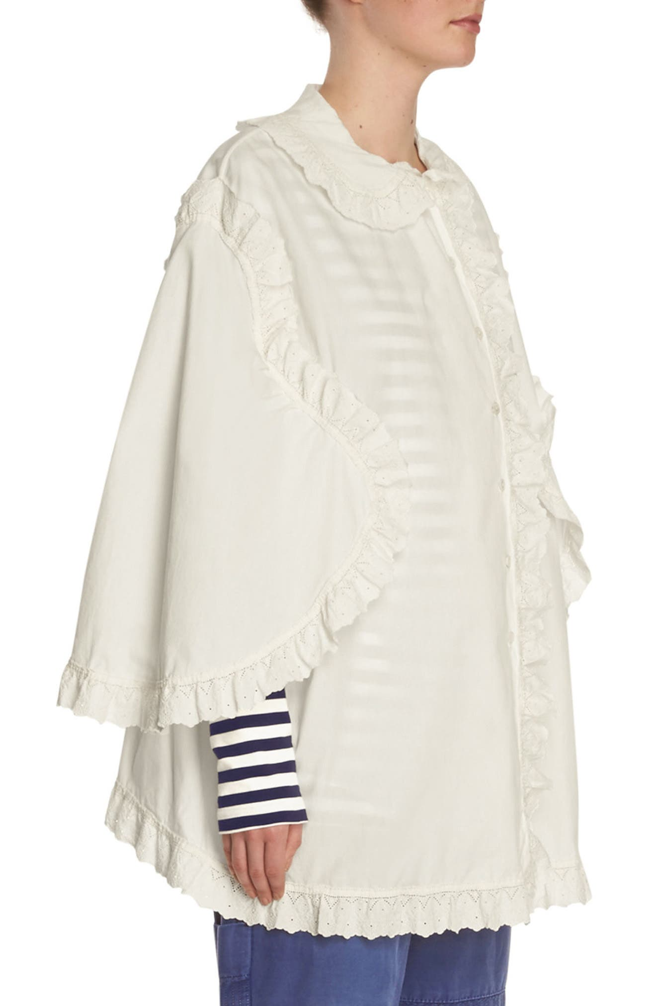 Alternate Image 3  - Burberry Ruffle Blouse