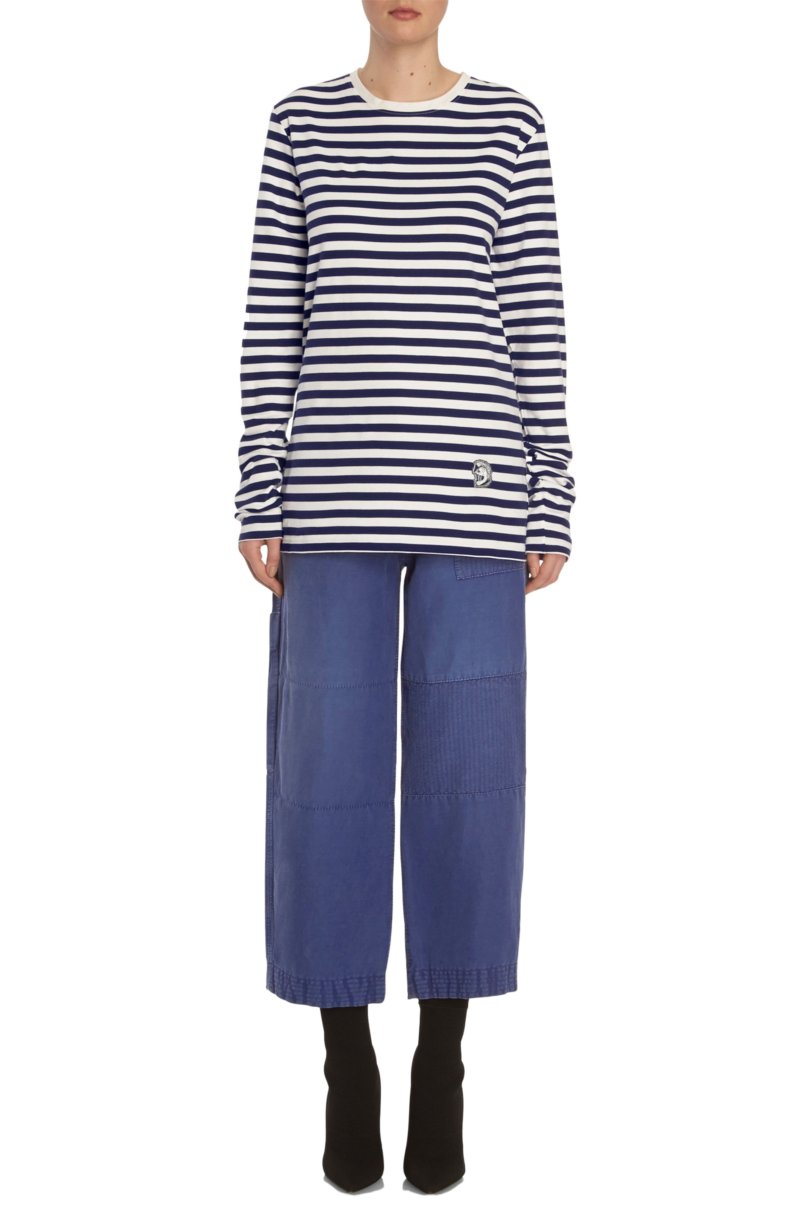 Alternate Image 8  - Burberry Crop Workwear Pants