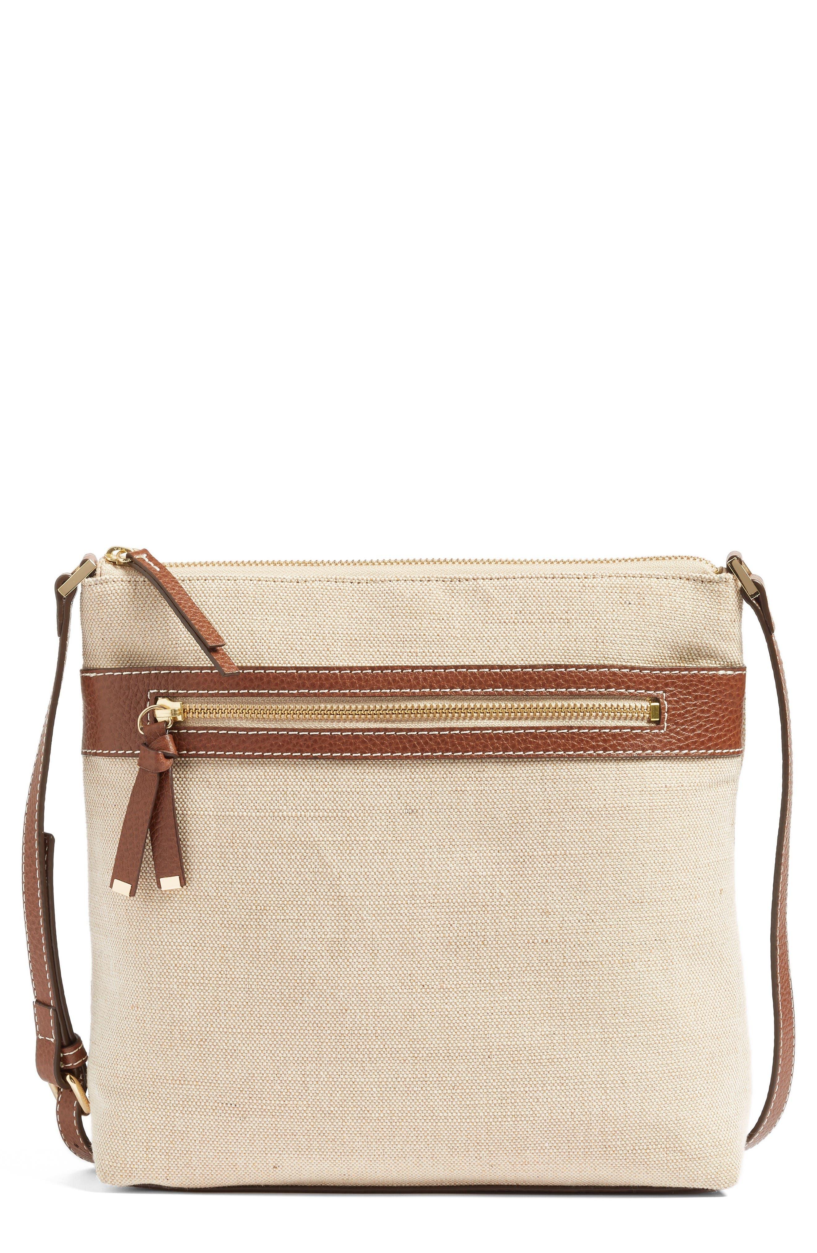 HALOGEN<SUP>®</SUP> Canvas Crossbody Bag