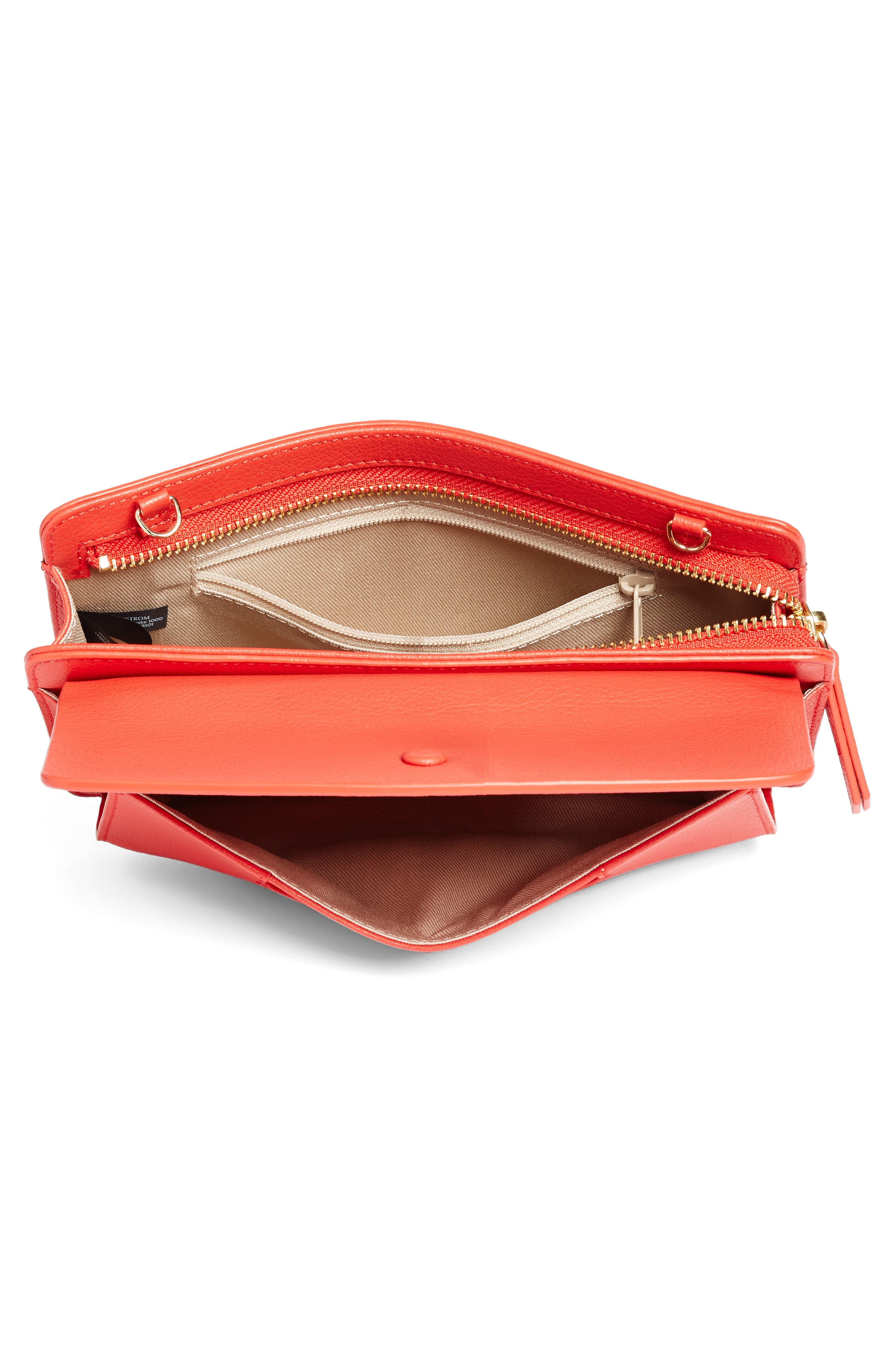 Alternate Image 4  - Halogen® Convertible Leather Crossbody Bag