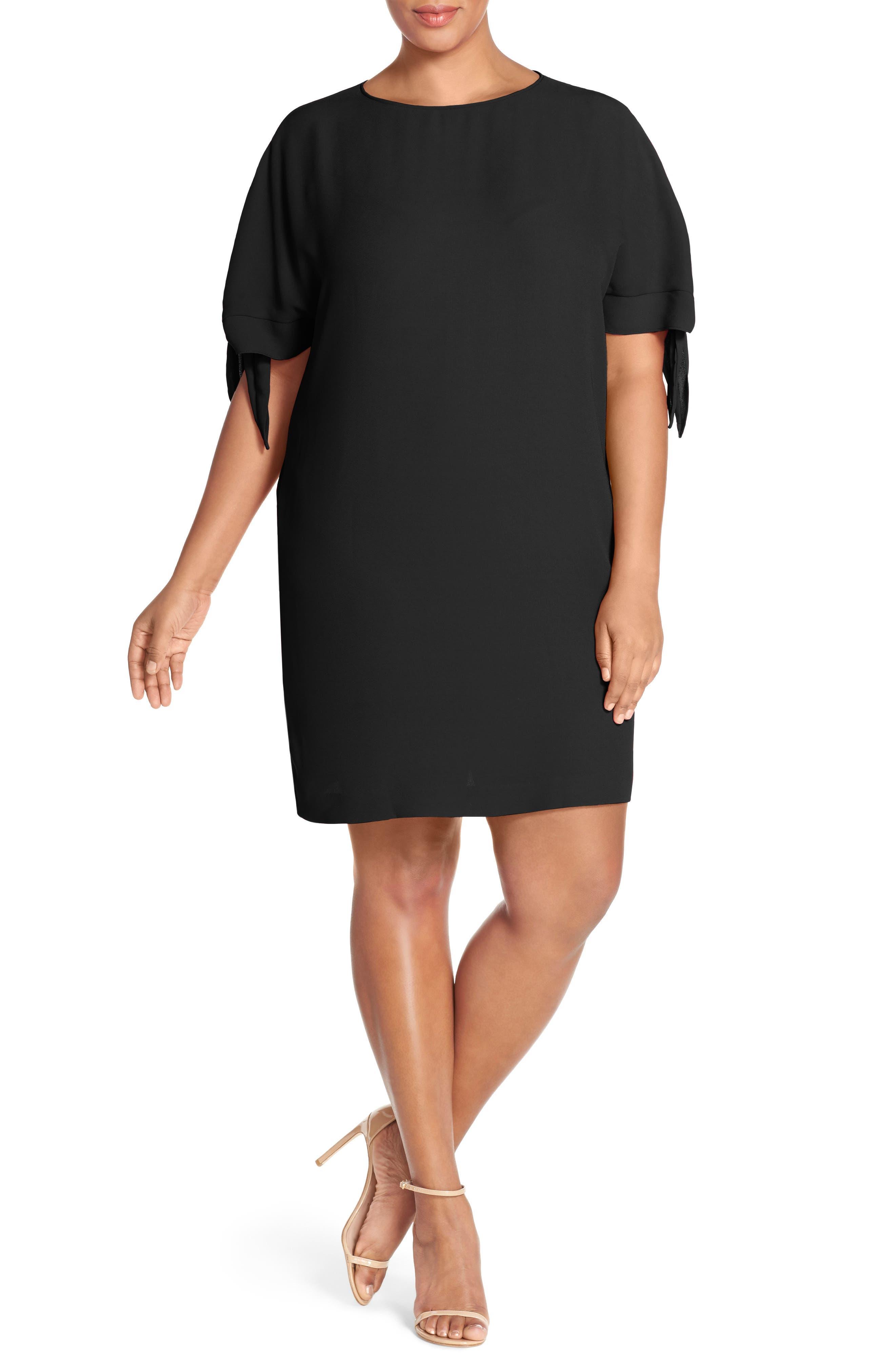 Vince Camuto Cold Shoulder Shift Dress (Plus Size)