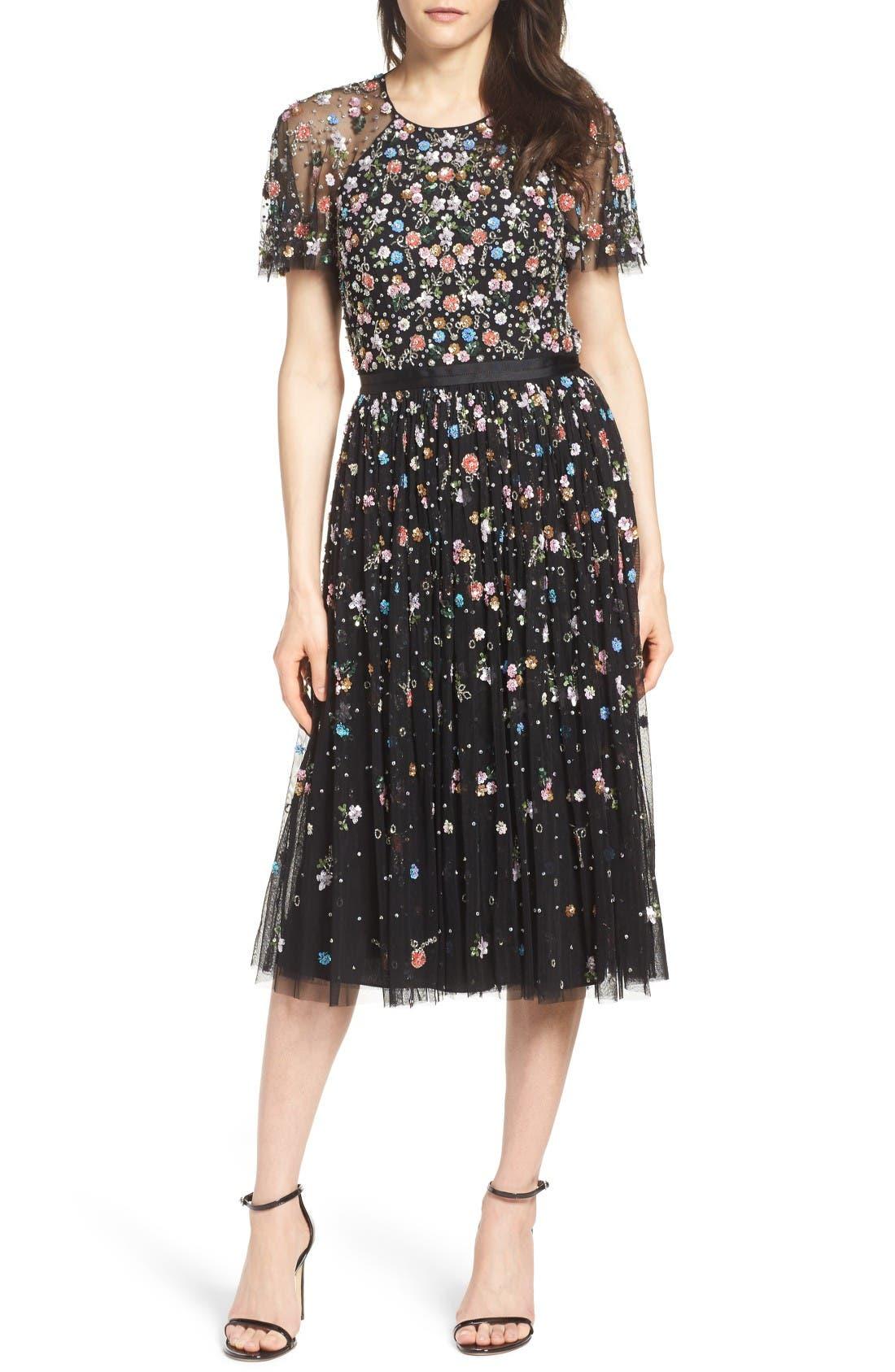 Alternate Image 1 Selected - Needle & Thread Starburst Midi Dress