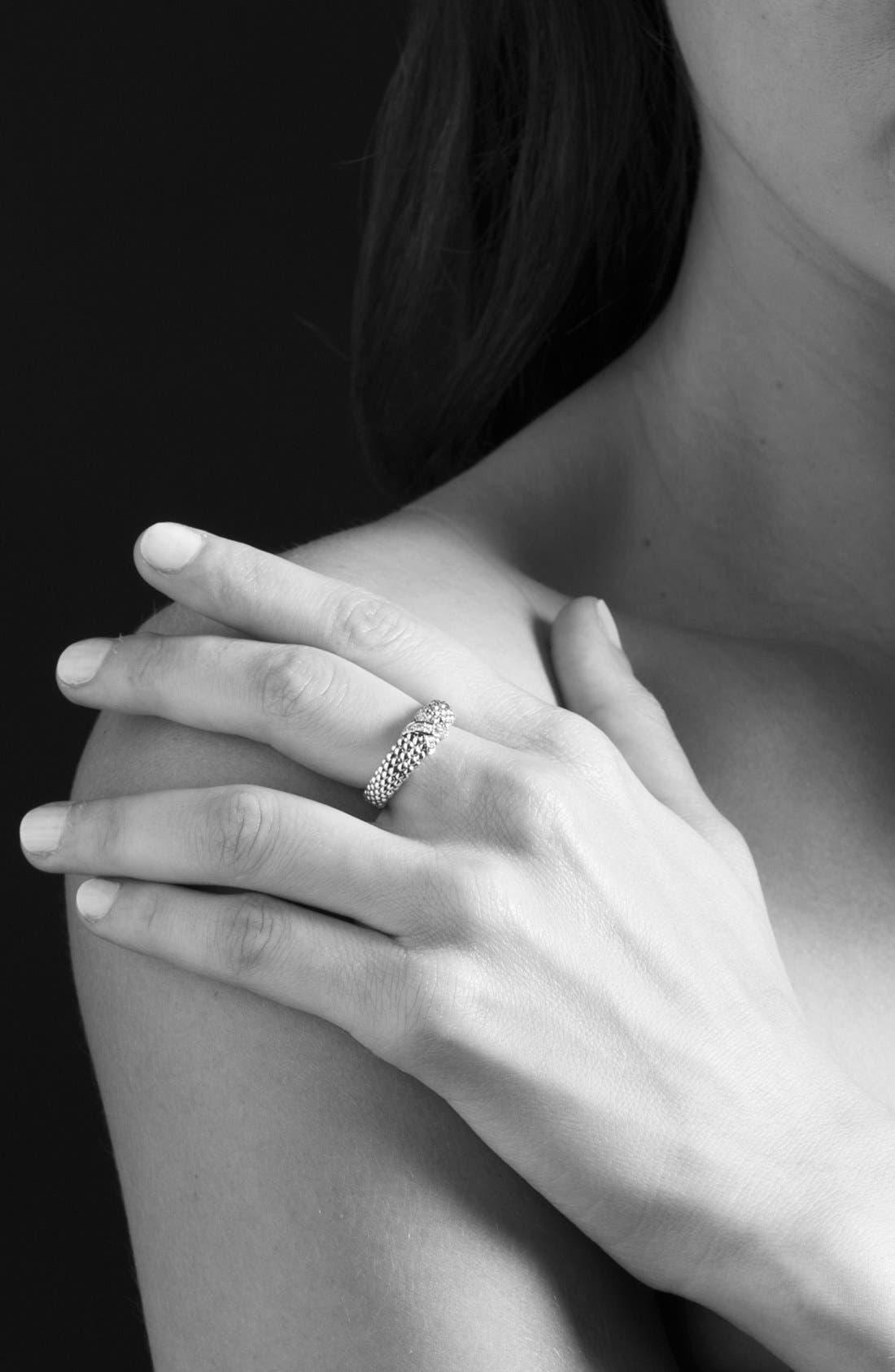 Alternate Image 4  - LAGOS 'X' Diamond & Caviar™' Two Tone Ring