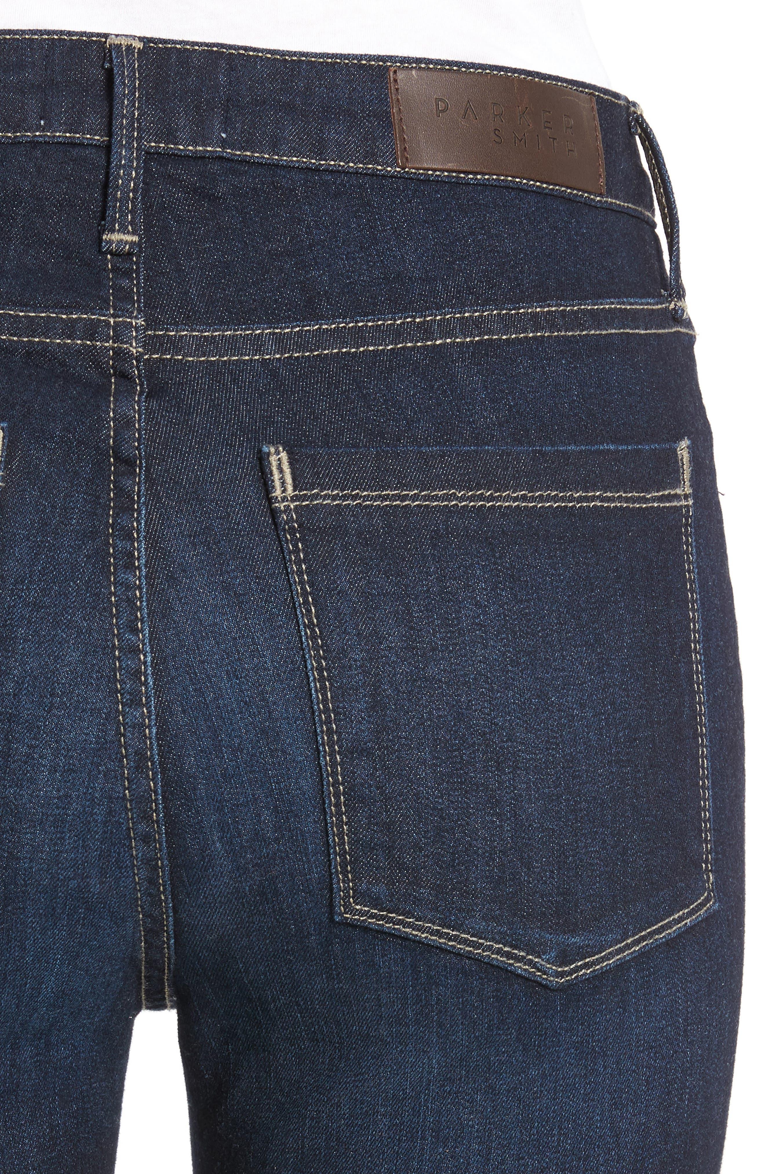 Bombshell Raw Hem Stretch Skinny Jeans,                             Alternate thumbnail 4, color,                             Horizon
