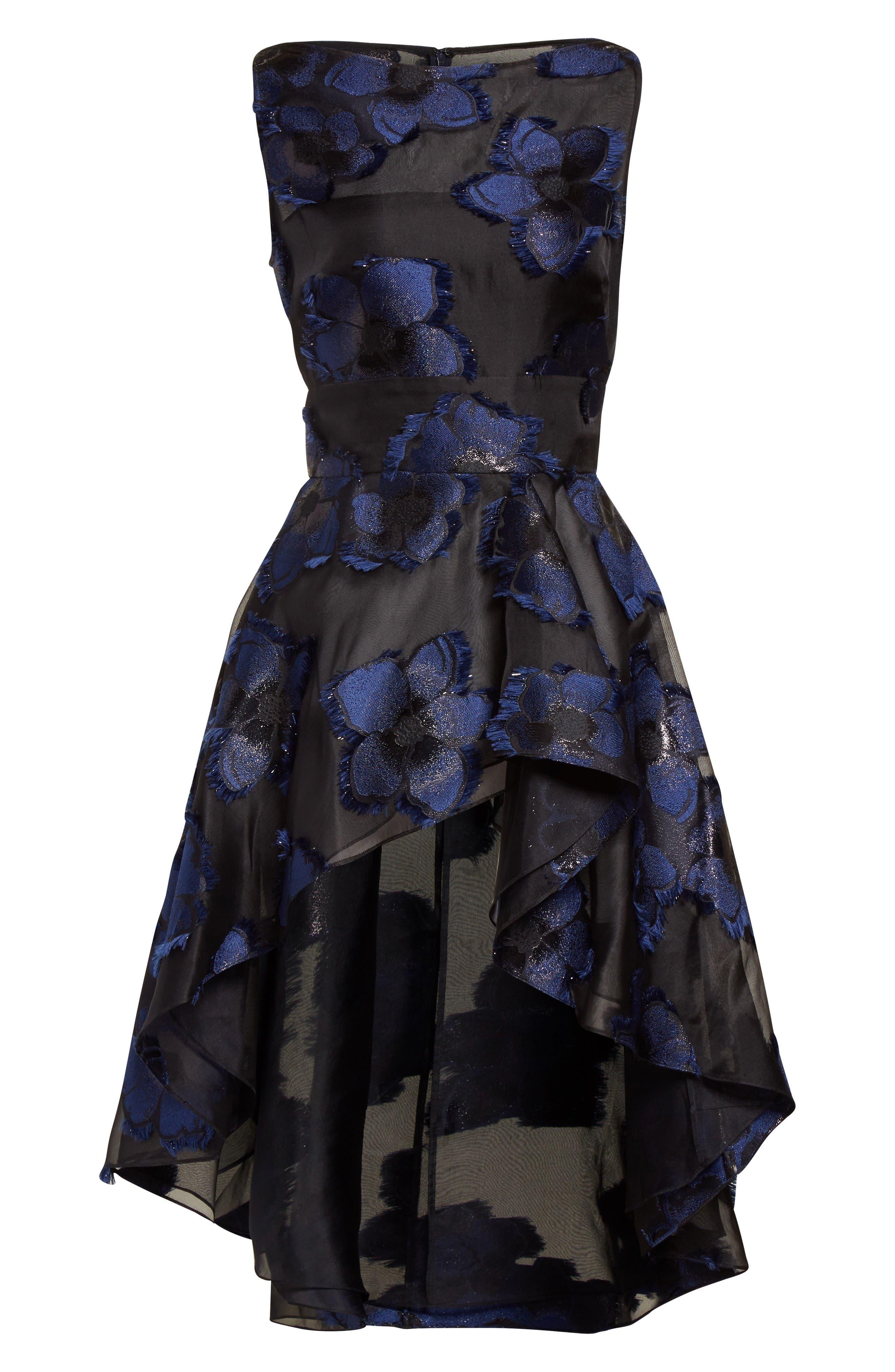 Alternate Image 4  - Lela Rose Metallic Floral Fil Coupé Top