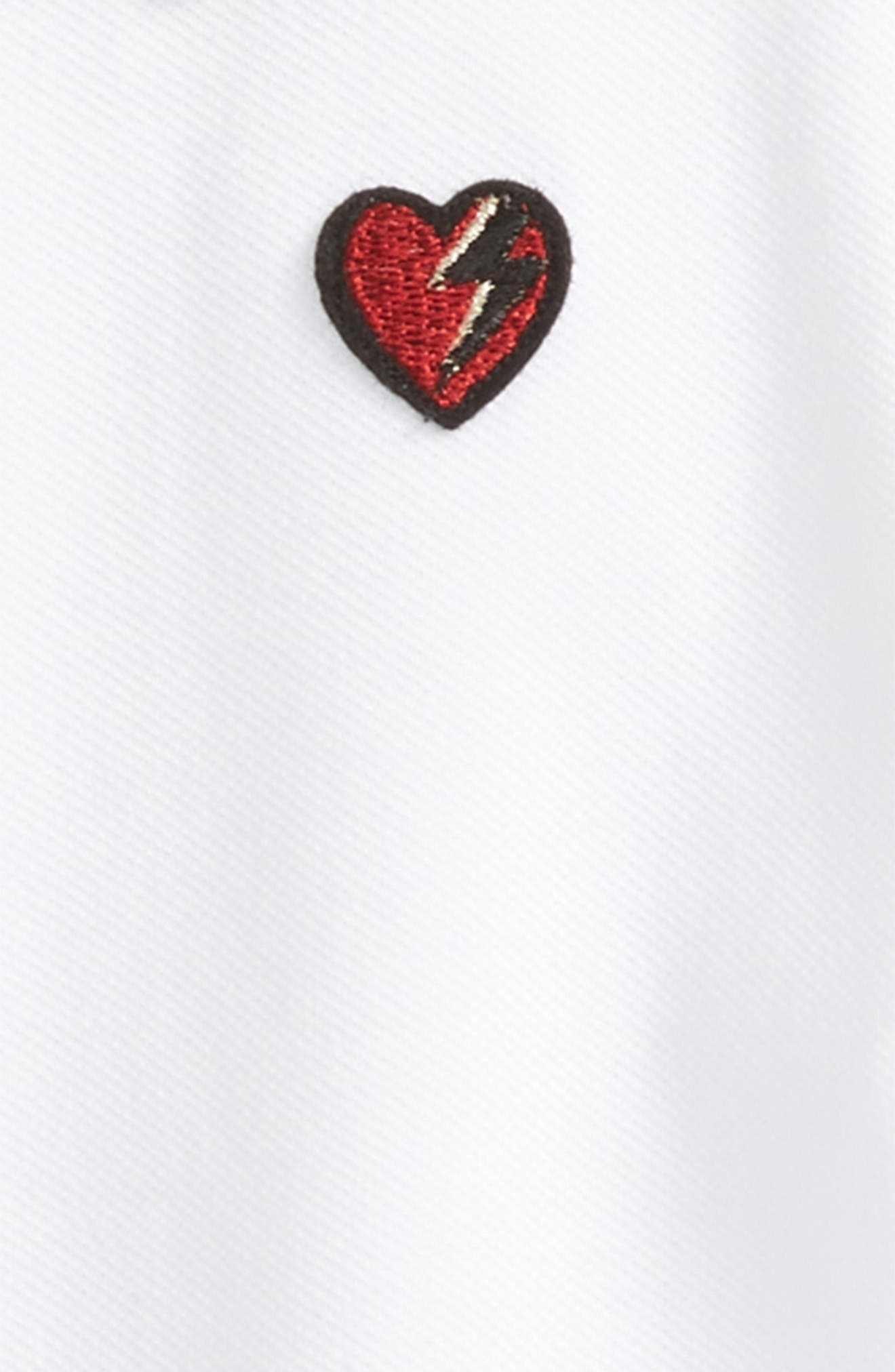 Alternate Image 2  - Gucci Heart Embroidered Polo (Little Girls & Big Girls)
