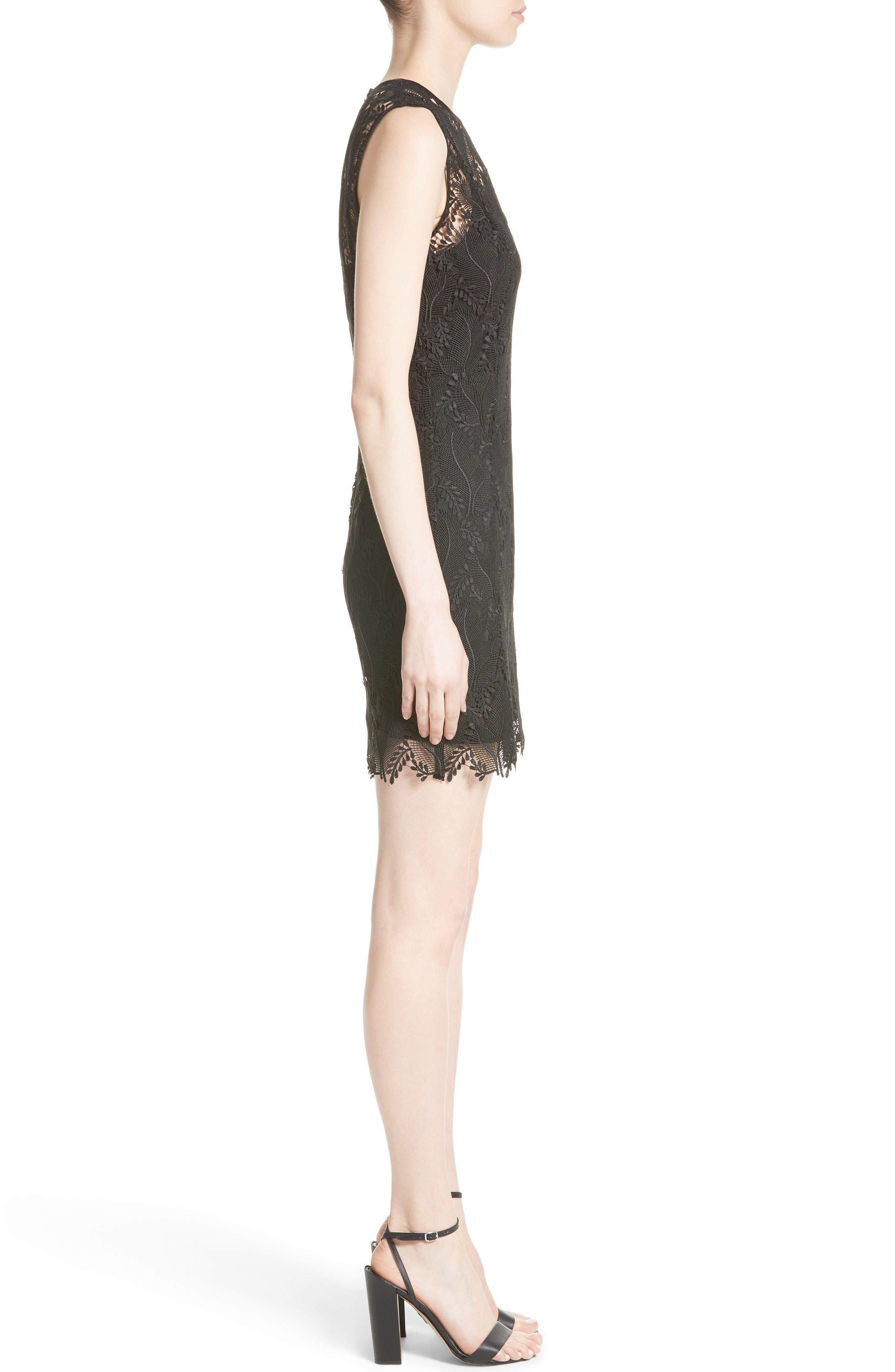 Alternate Image 3  - Diane von Furstenberg Lace Overlay Mindress