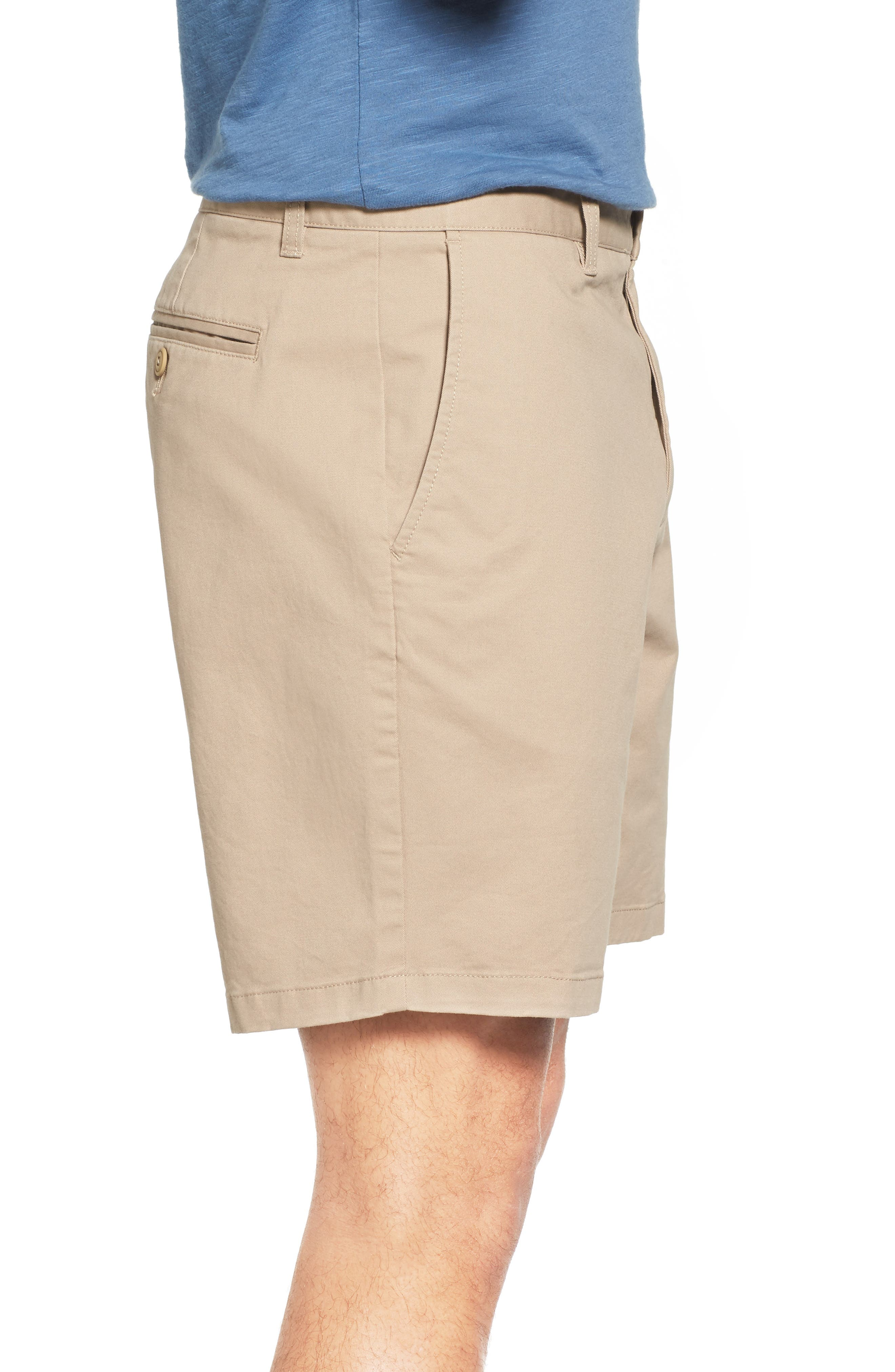 Stretch Washed Chino 7-Inch Shorts,                             Alternate thumbnail 3, color,                             True Khaki