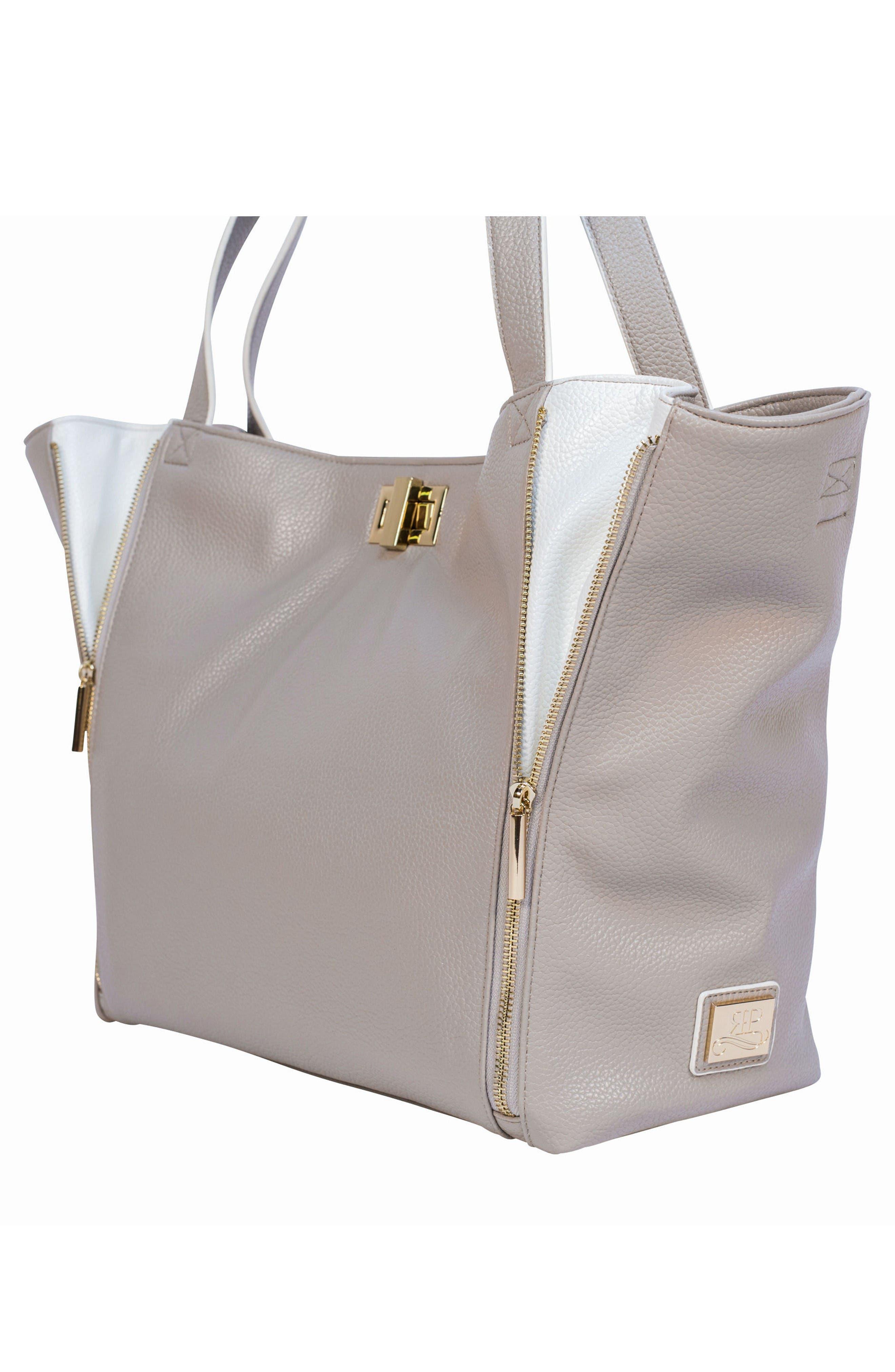 Sloane Diaper Bag,                             Alternate thumbnail 6, color,                             Neutral/ White