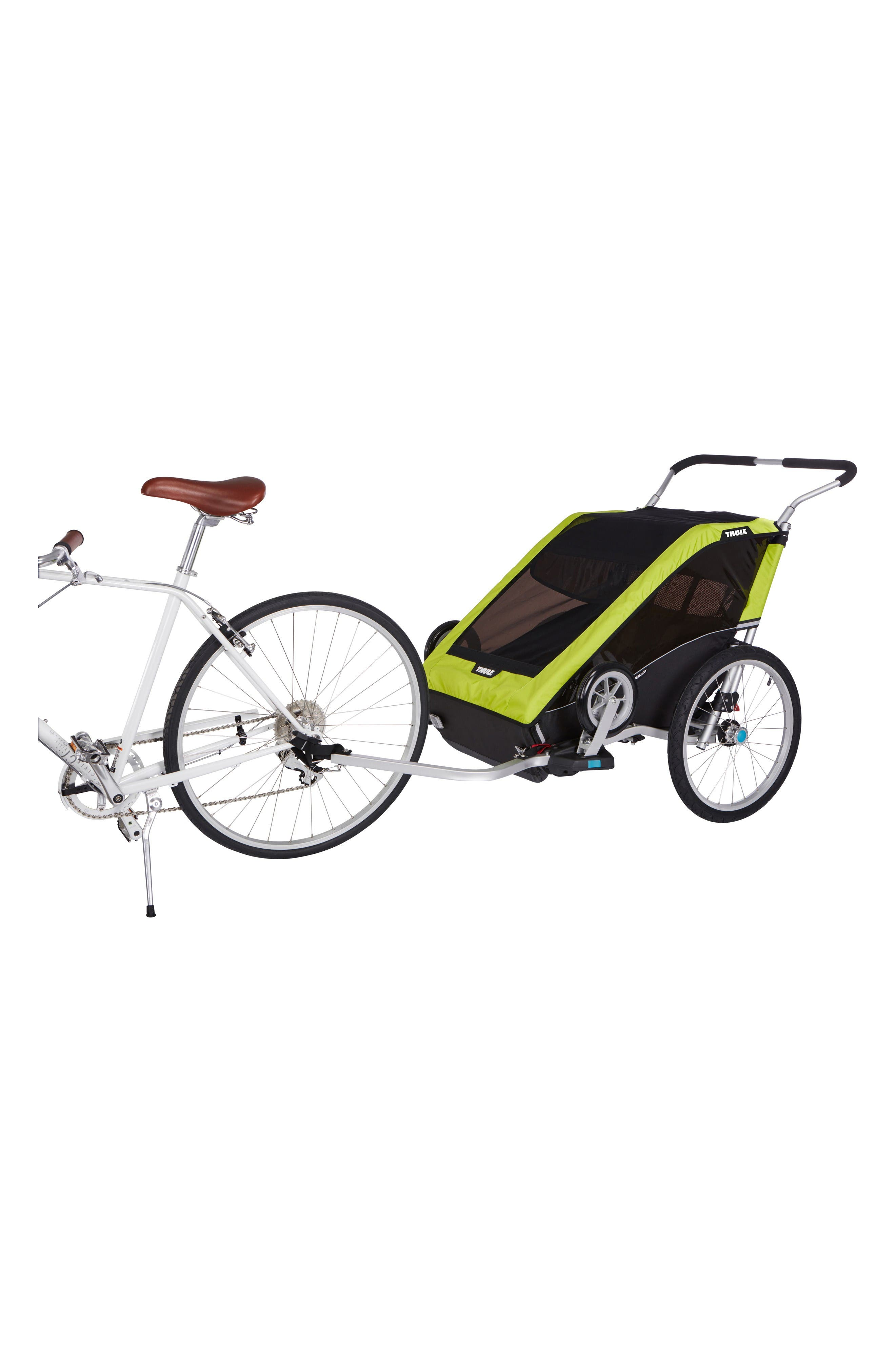 Chariot Cheetah XT 2 Multisport Double Cycle Trailer/Stroller,                             Alternate thumbnail 5, color,                             Chartreuse