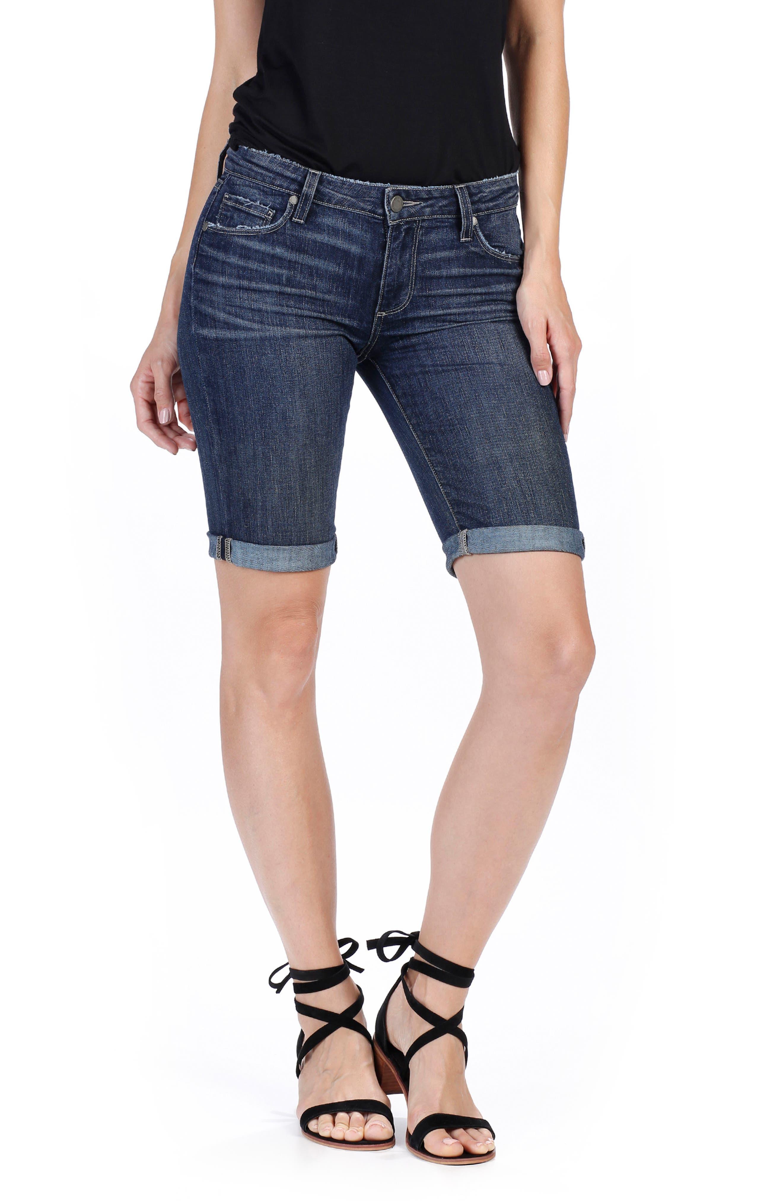 PAIGE Jax Denim Bermuda Shorts (Marquis)