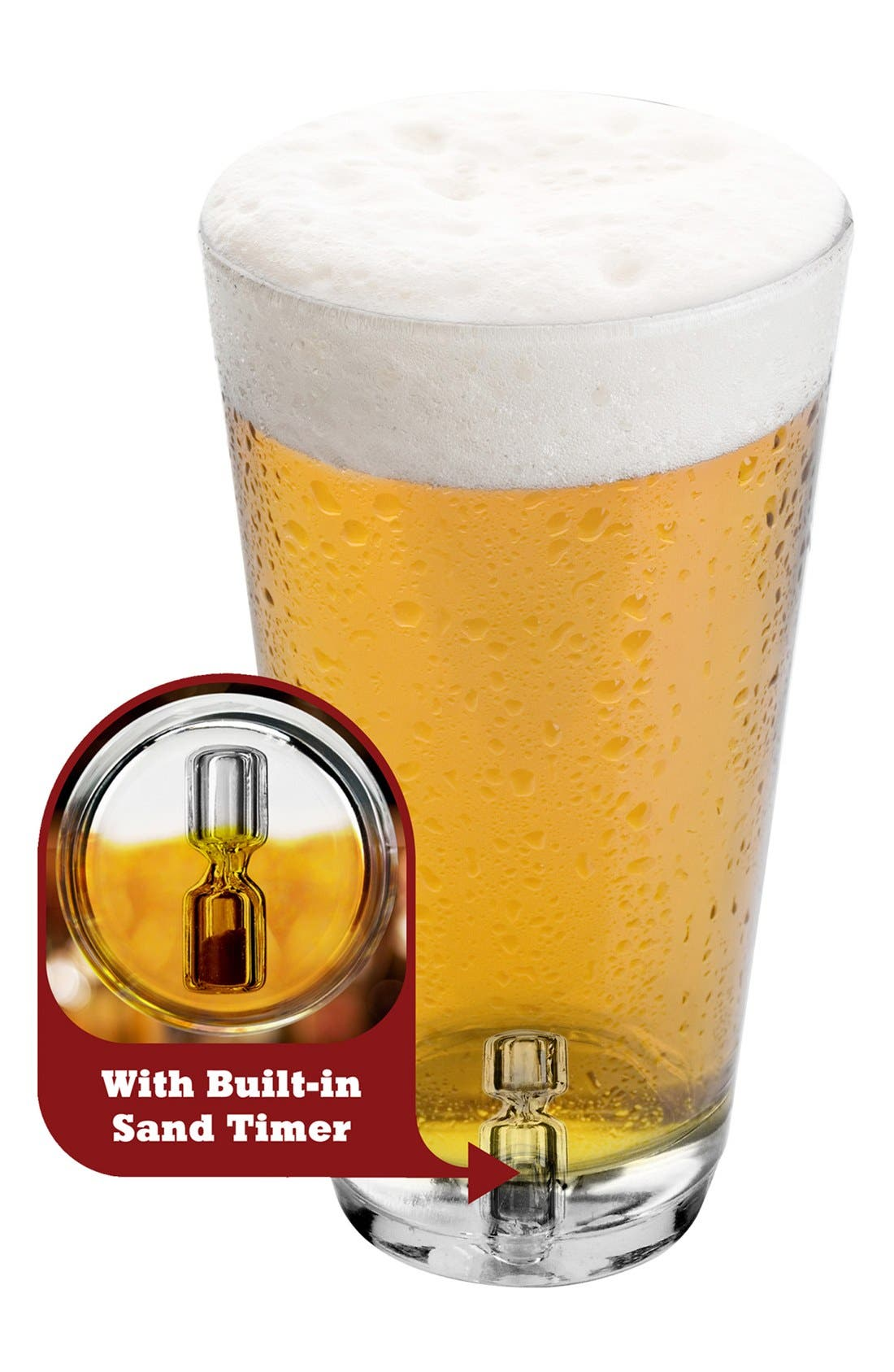 Alternate Image 1 Selected - Barbuzzo Tick Tock Timer Pint Glass