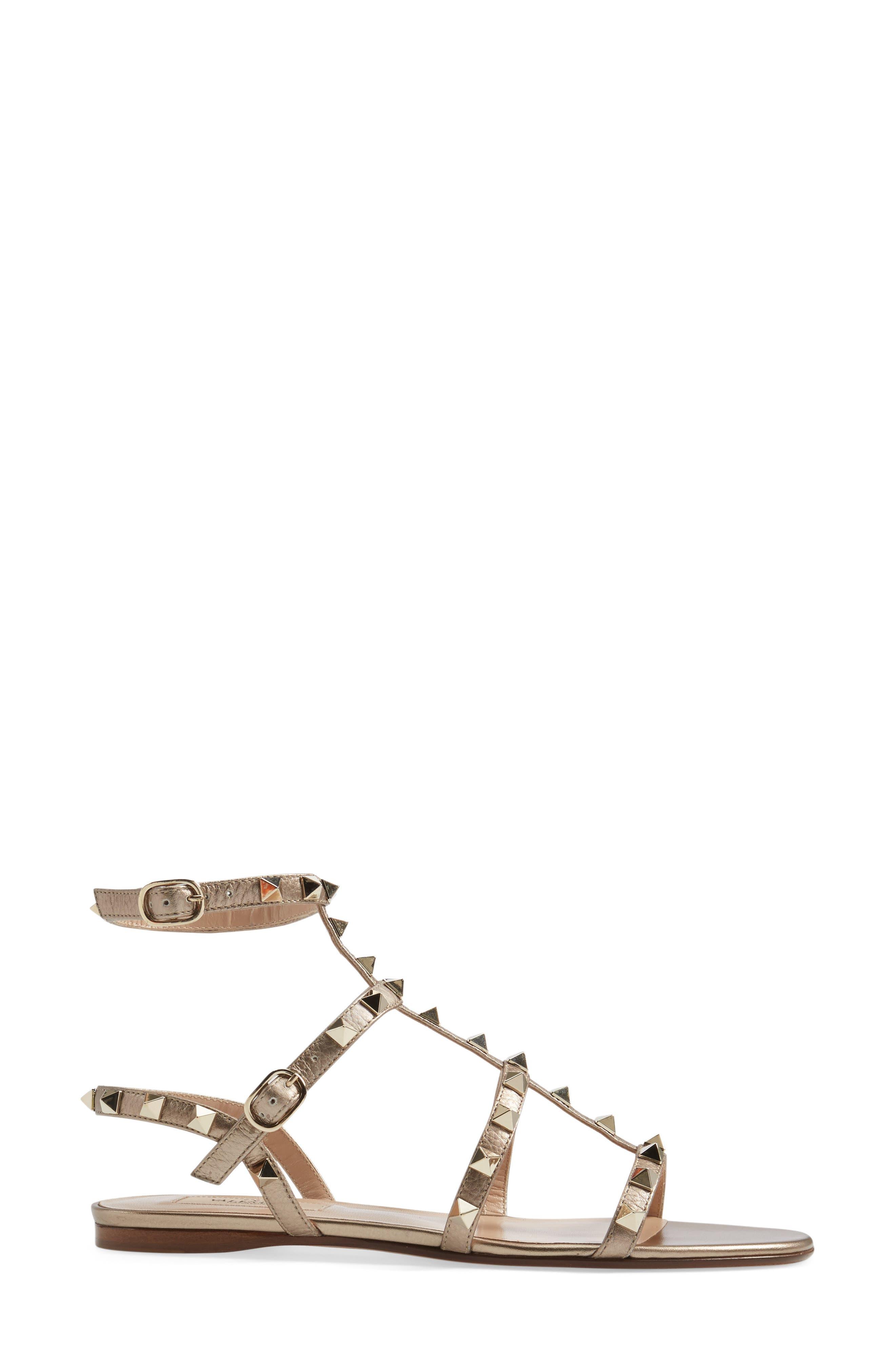 Alternate Image 4  - VALENTINO GARAVANI 'Rockstud' Gladiator Sandal (Women)