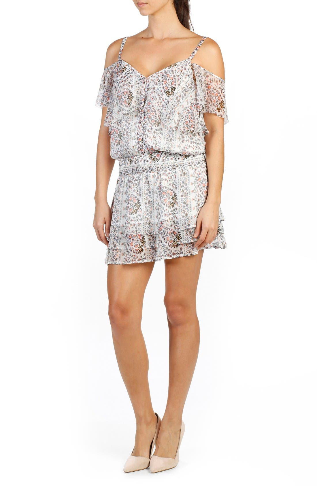 PAIGE Olympia Silk Blouson Dress