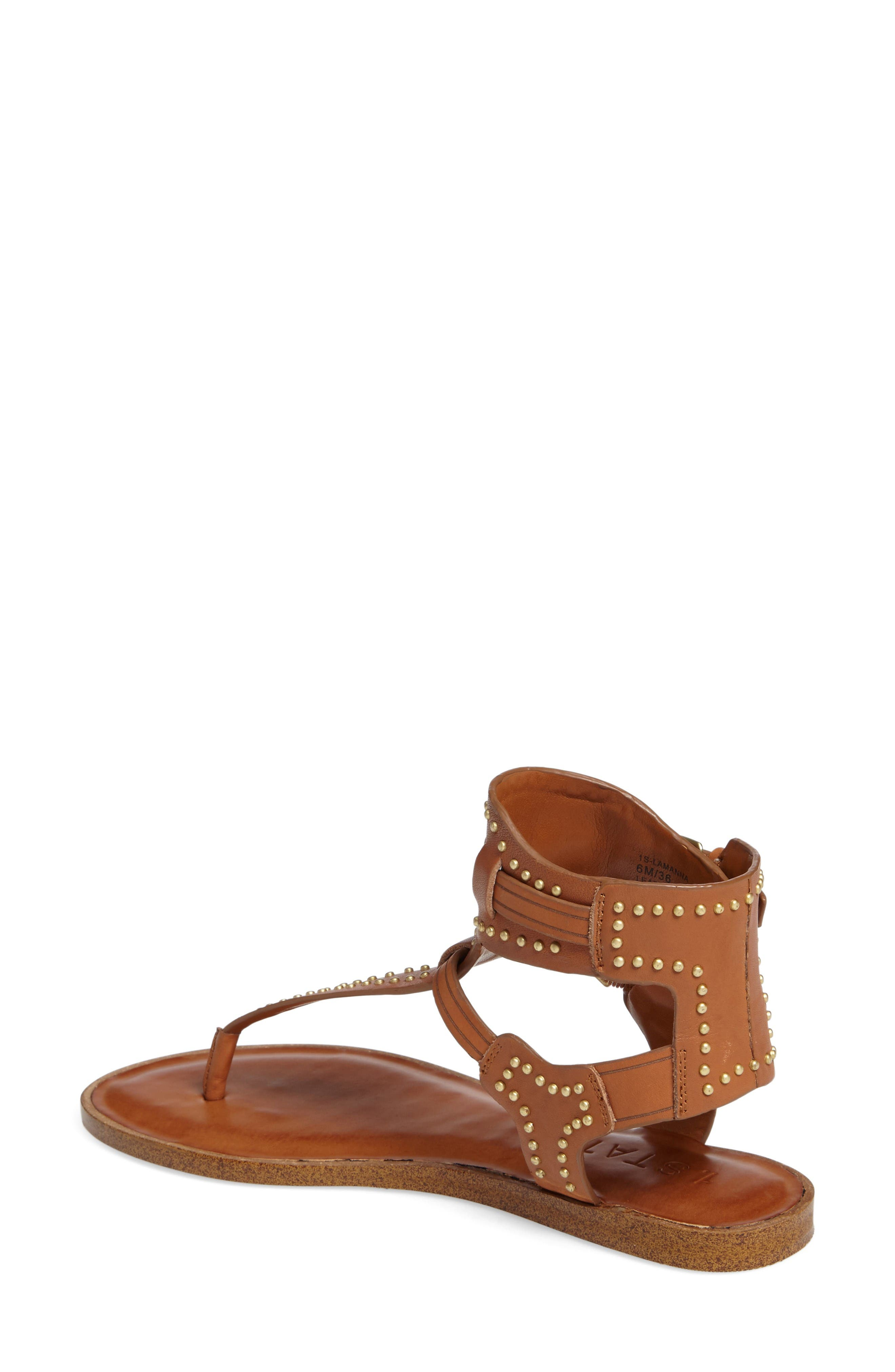 Lamanna Ankle Strap Sandal,                             Alternate thumbnail 2, color,                             Tan Leather