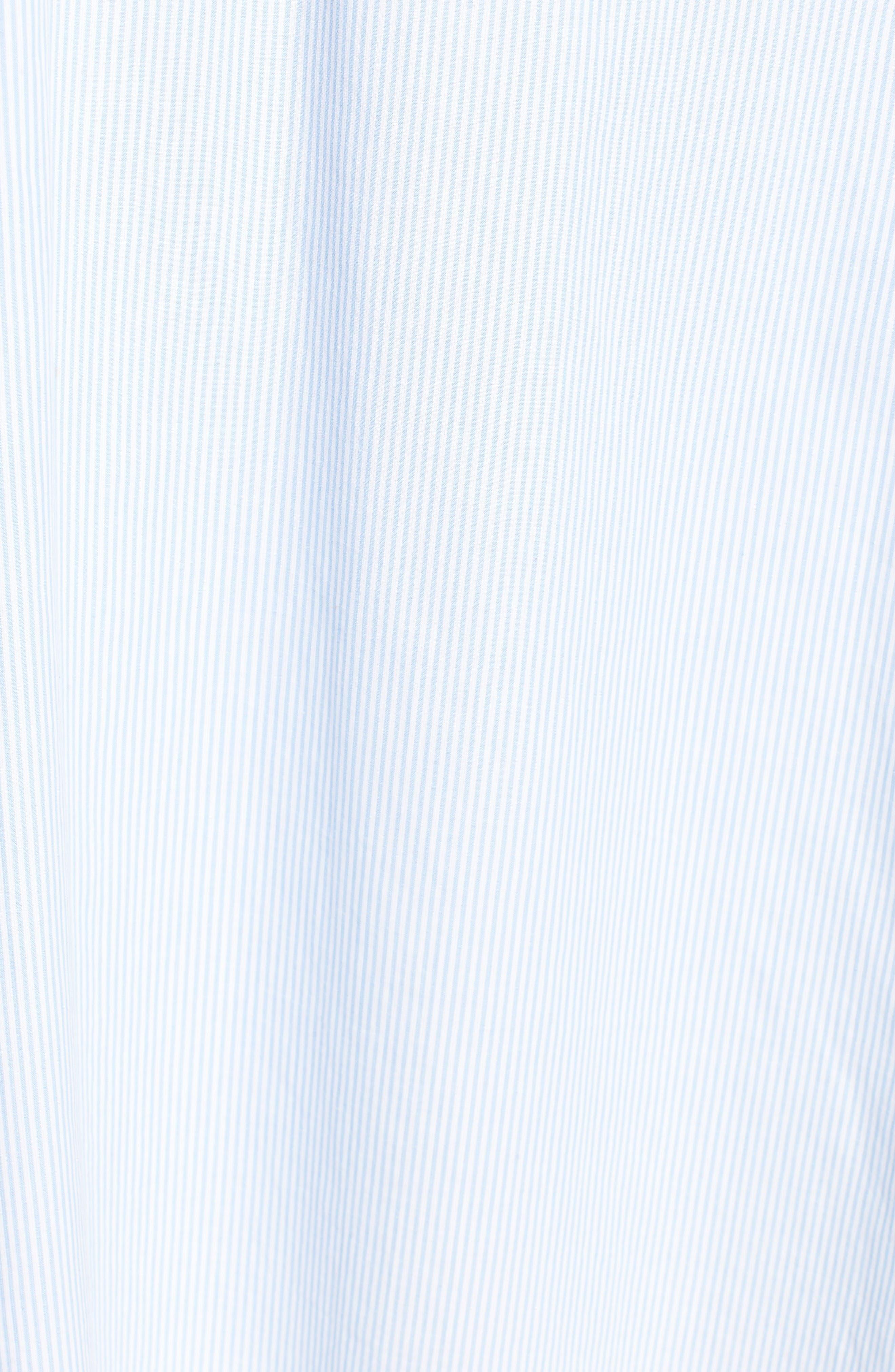 Stripe Lace-Up Maxi Dress,                             Alternate thumbnail 7, color,                             Light Blue