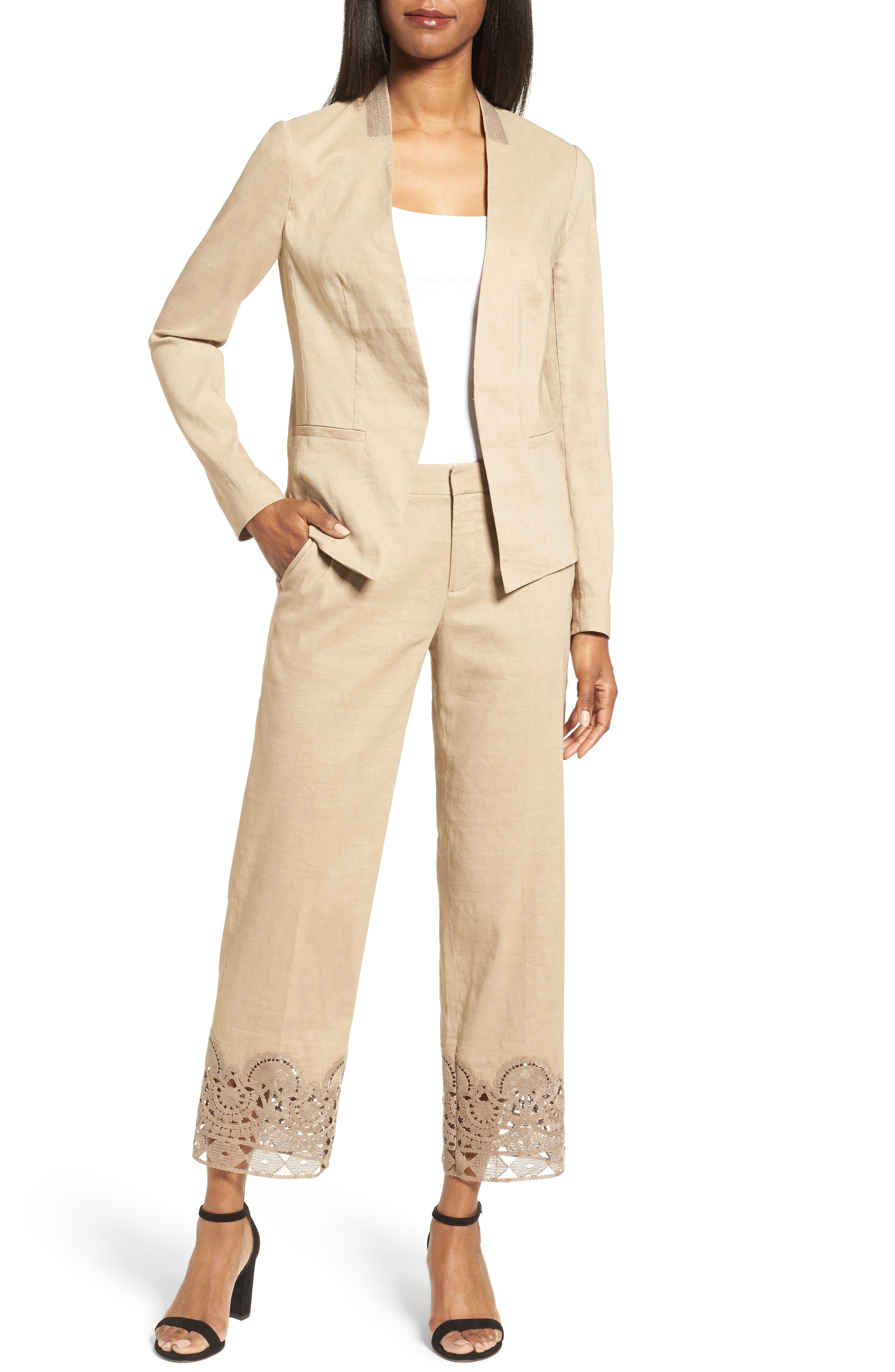 Alternate Image 2  - Kobi Halperin Claudia Lace Trim Jacket