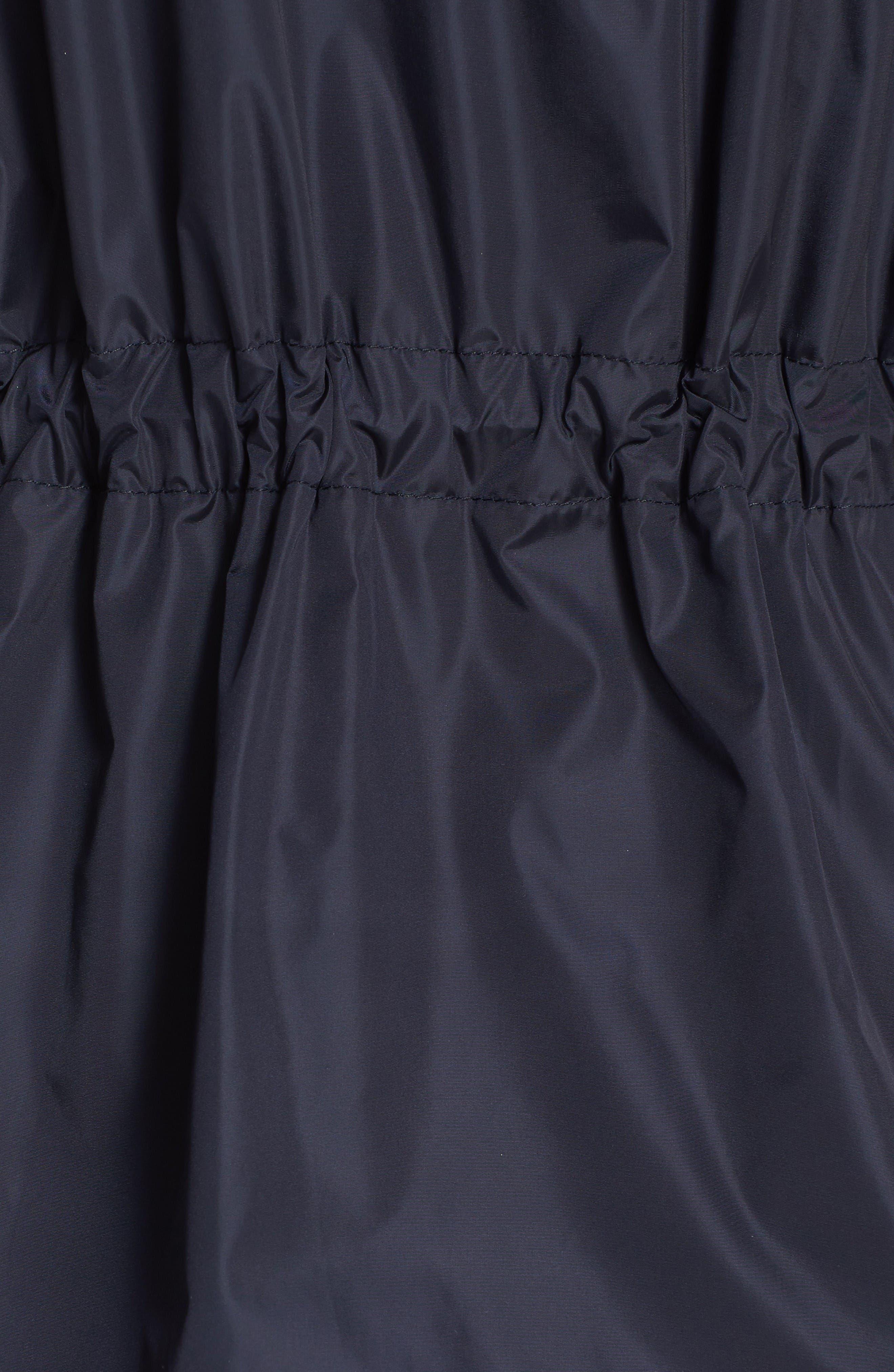 Lotus Water Resistant Peplum Raincoat,                             Alternate thumbnail 3, color,                             Navy