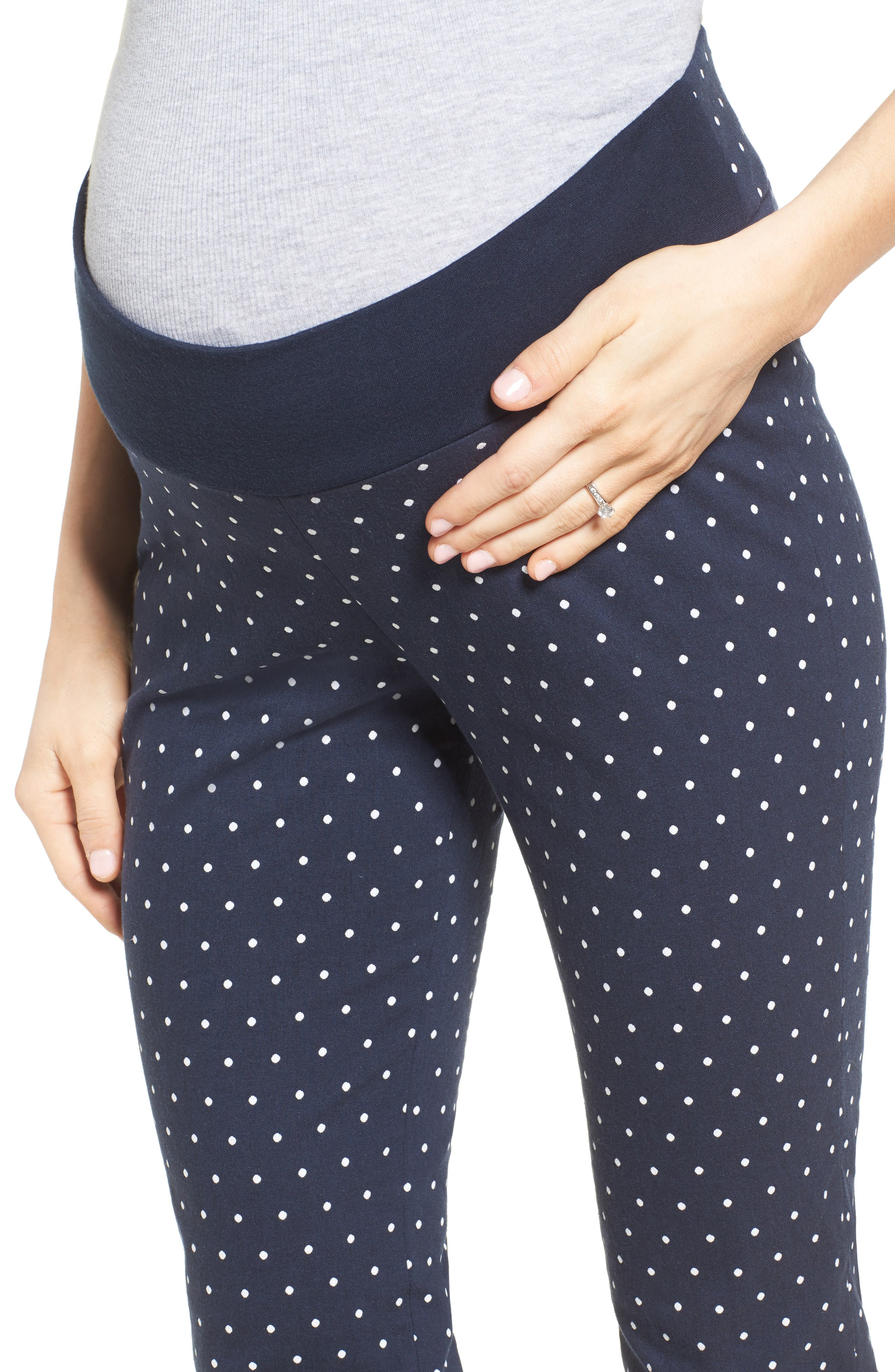 Alternate Image 4  - Isabella Oliver Karina Cigarette Leg Maternity Pants