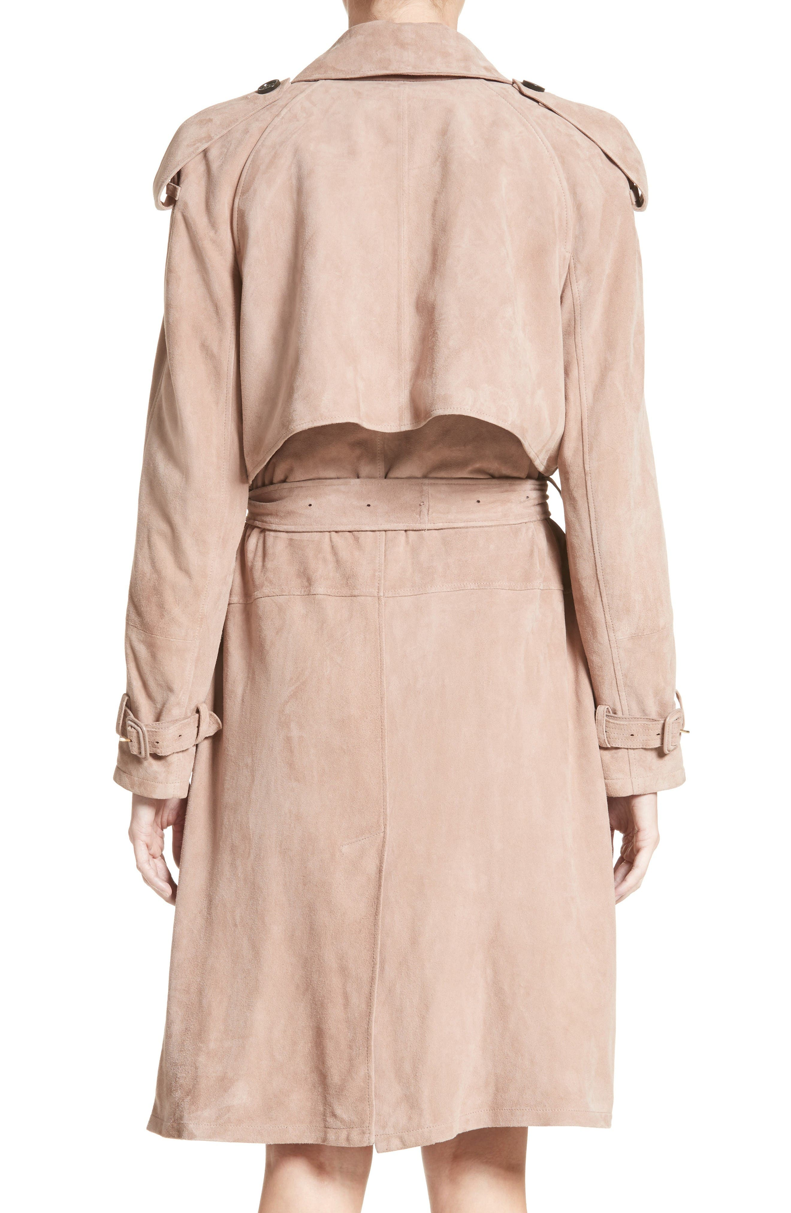 Alternate Image 2  - Burberry Sanbridges Suede Wrap Trench