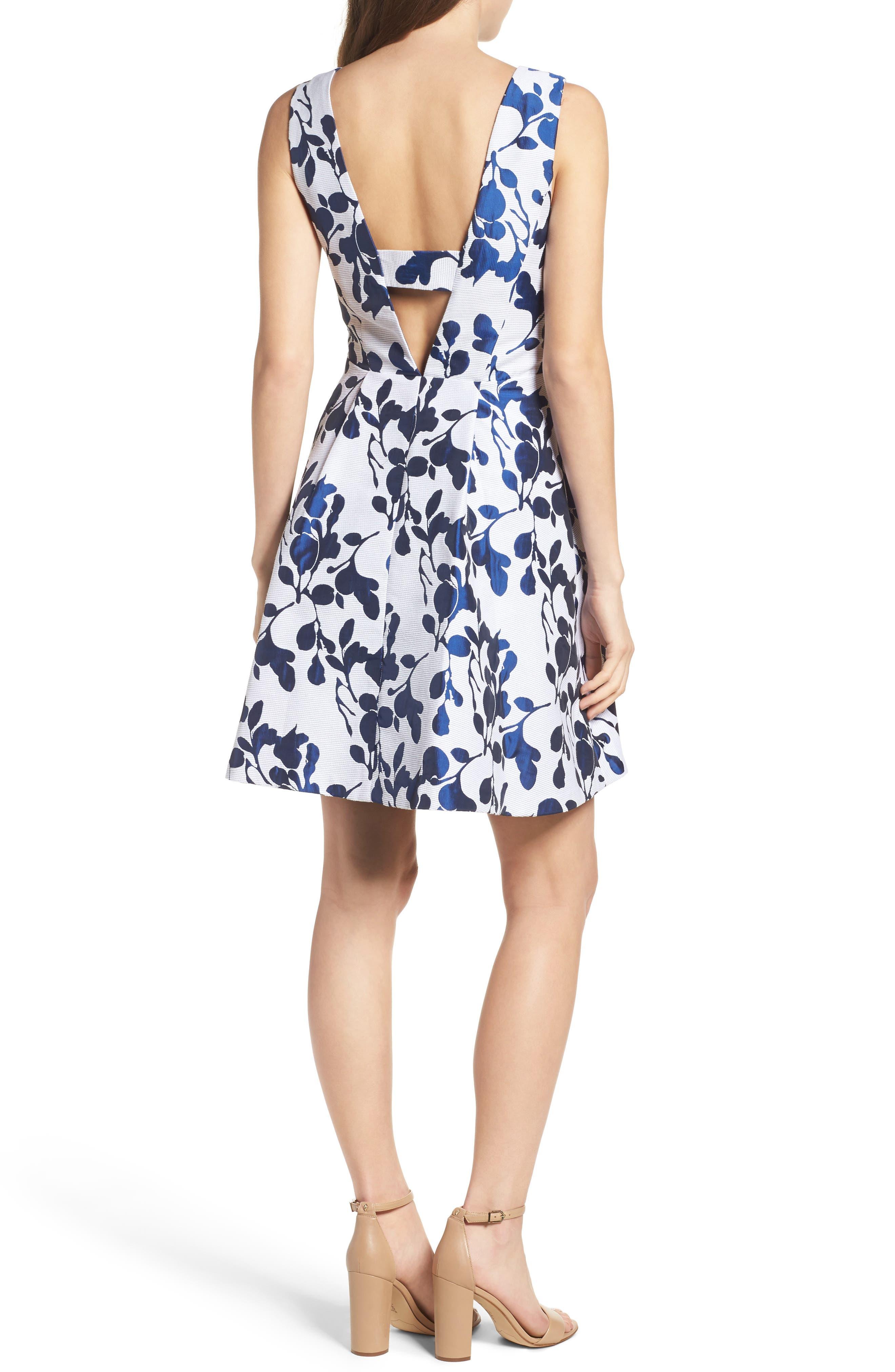 Alternate Image 2  - Betsey Johnson Fit & Flare Dress