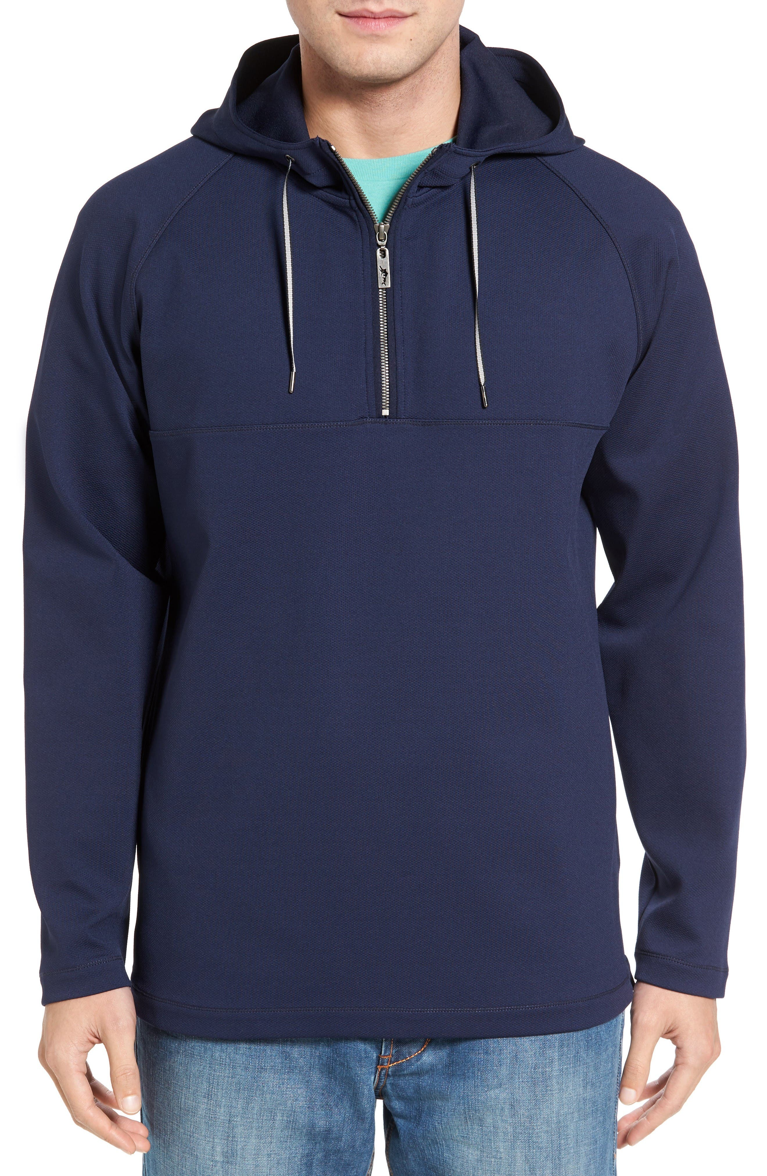 Tommy Bahama Weekend Pro Quarter Zip Hoodie (Big & Tall)