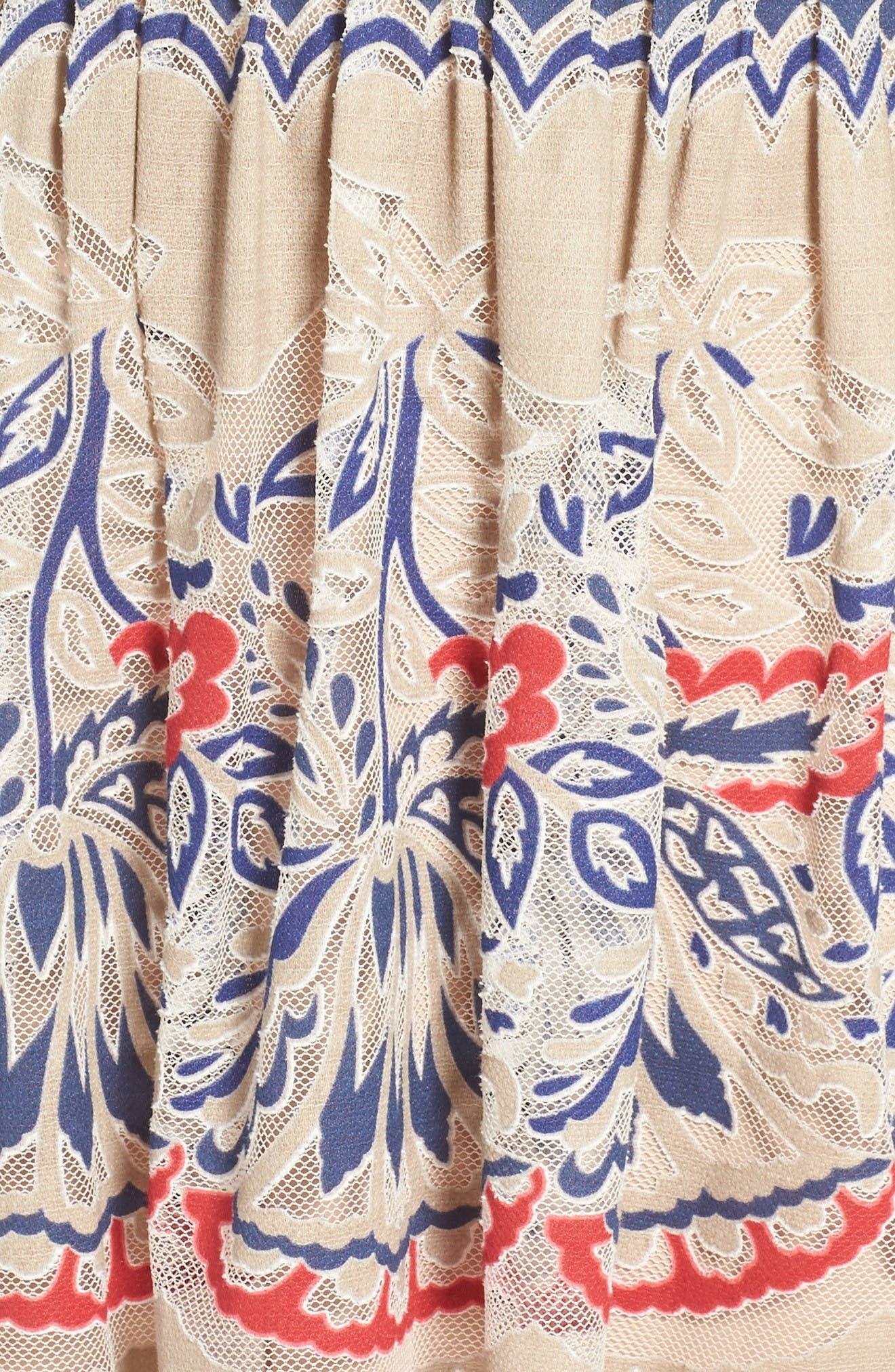 Alternate Image 6  - BCBGMAXAZRIA Fleur Drop Waist Dress