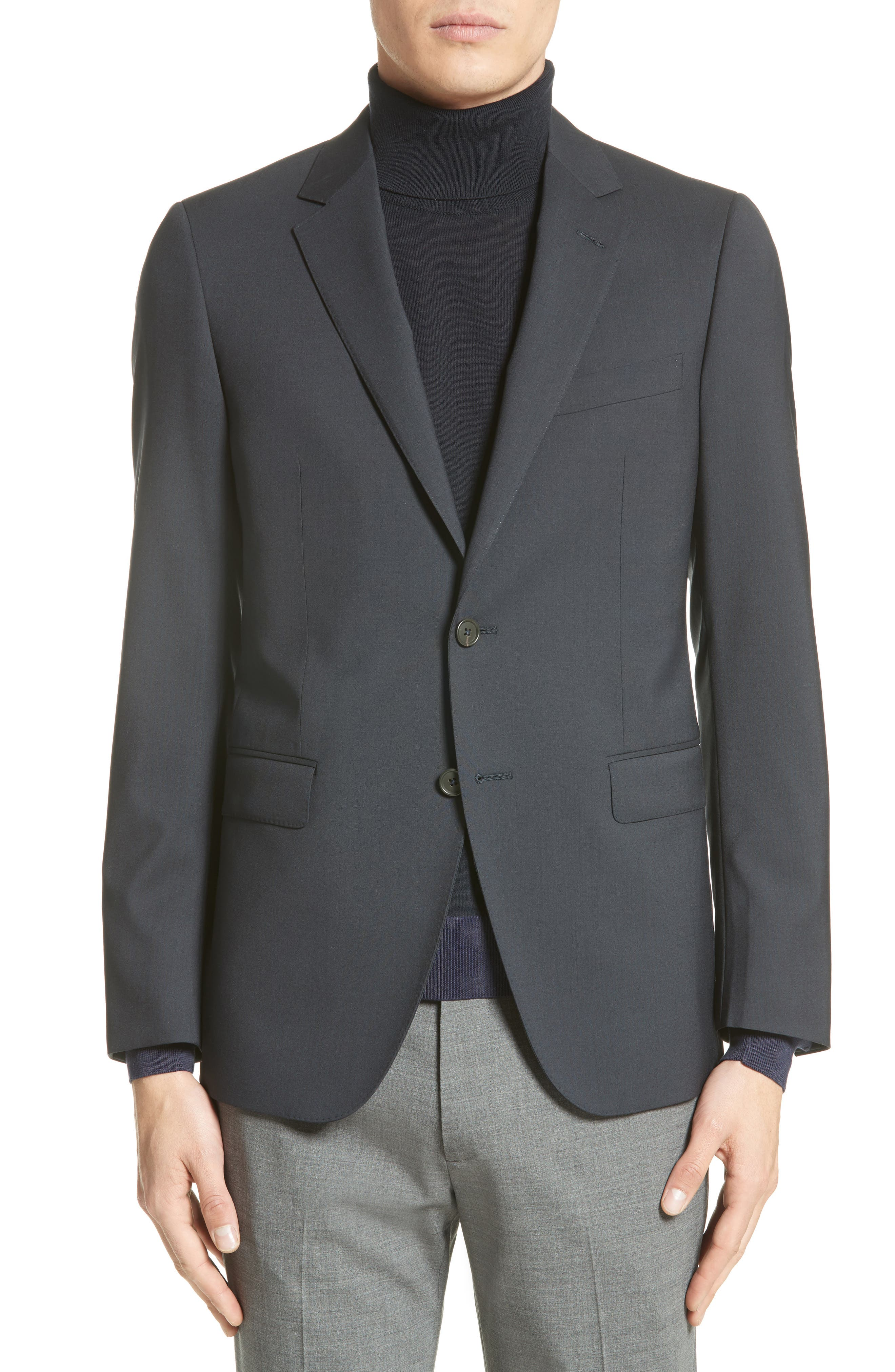 Tropical Wool Suit Jacket,                             Main thumbnail 1, color,                             Navy