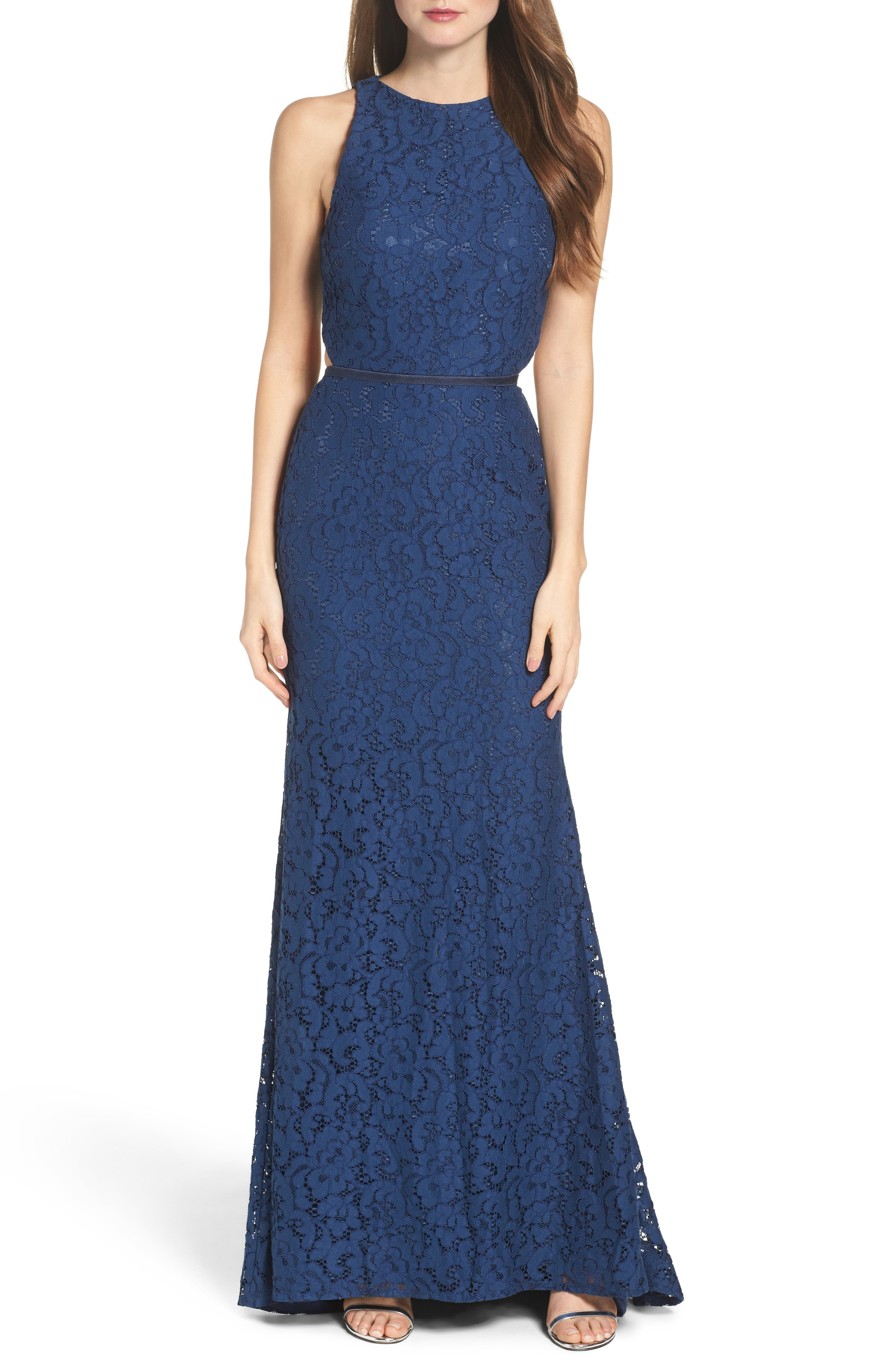 Alternate Image 1 Selected - Mac Duggal Cutout Lace Gown