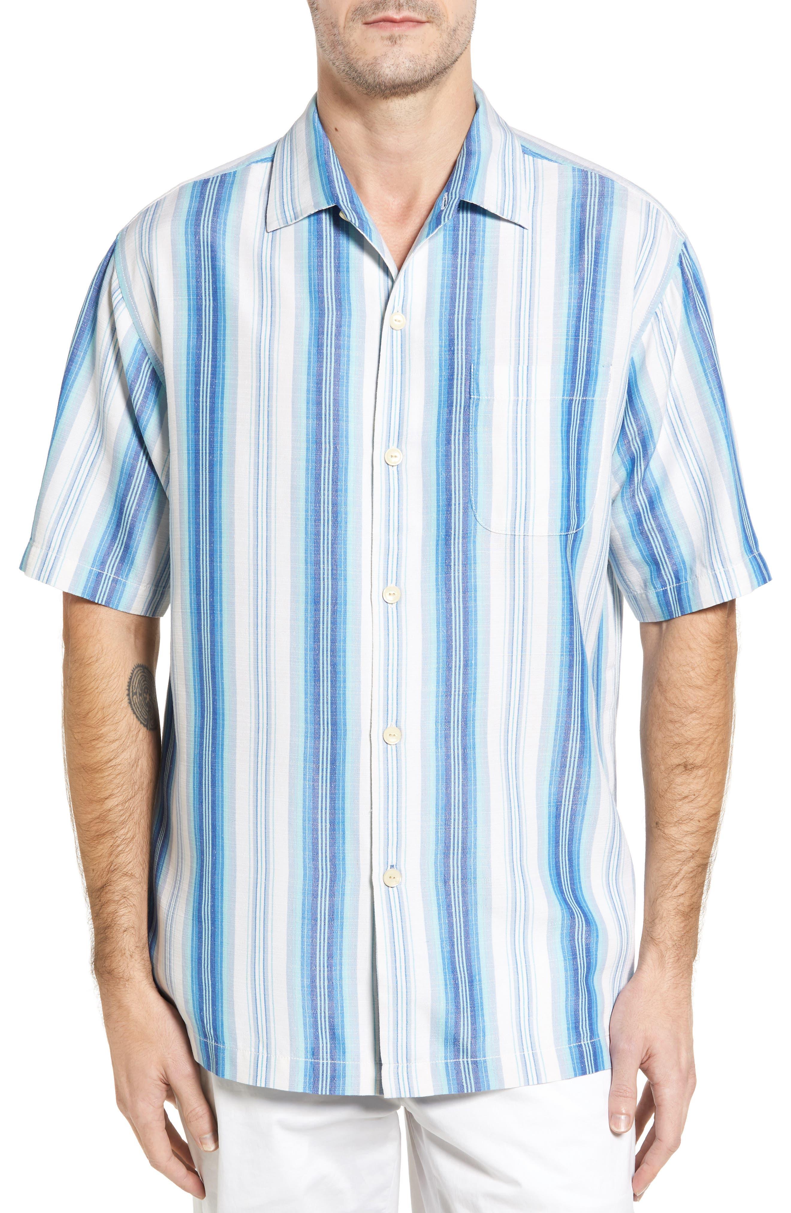 TOMMY BAHAMA Socrates Stripe Silk Shirt
