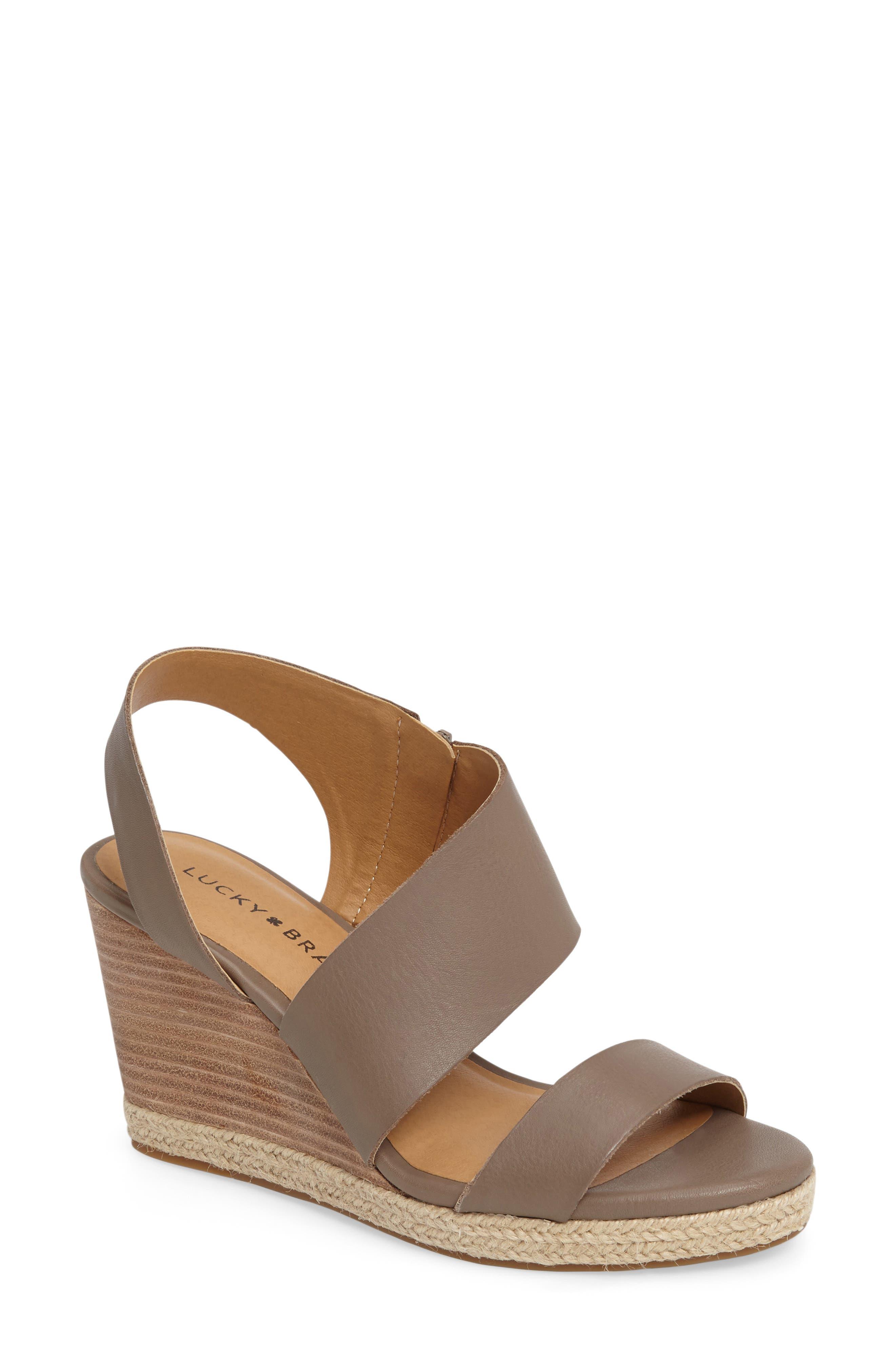 Lucky Brand Lowden Wedge Sandal (Women)