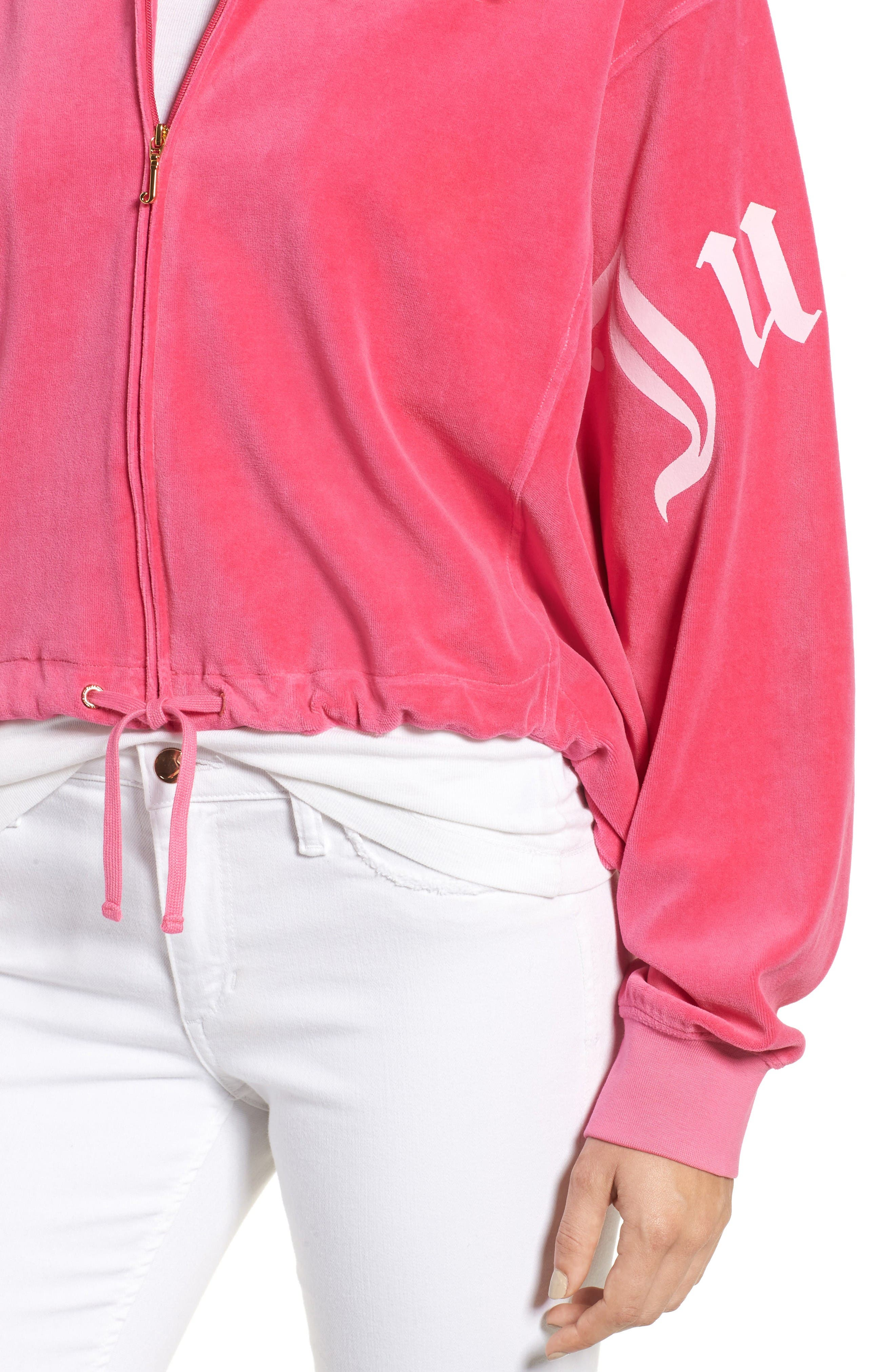 Alternate Image 4  - Juicy Couture Velour Batwing Track Jacket