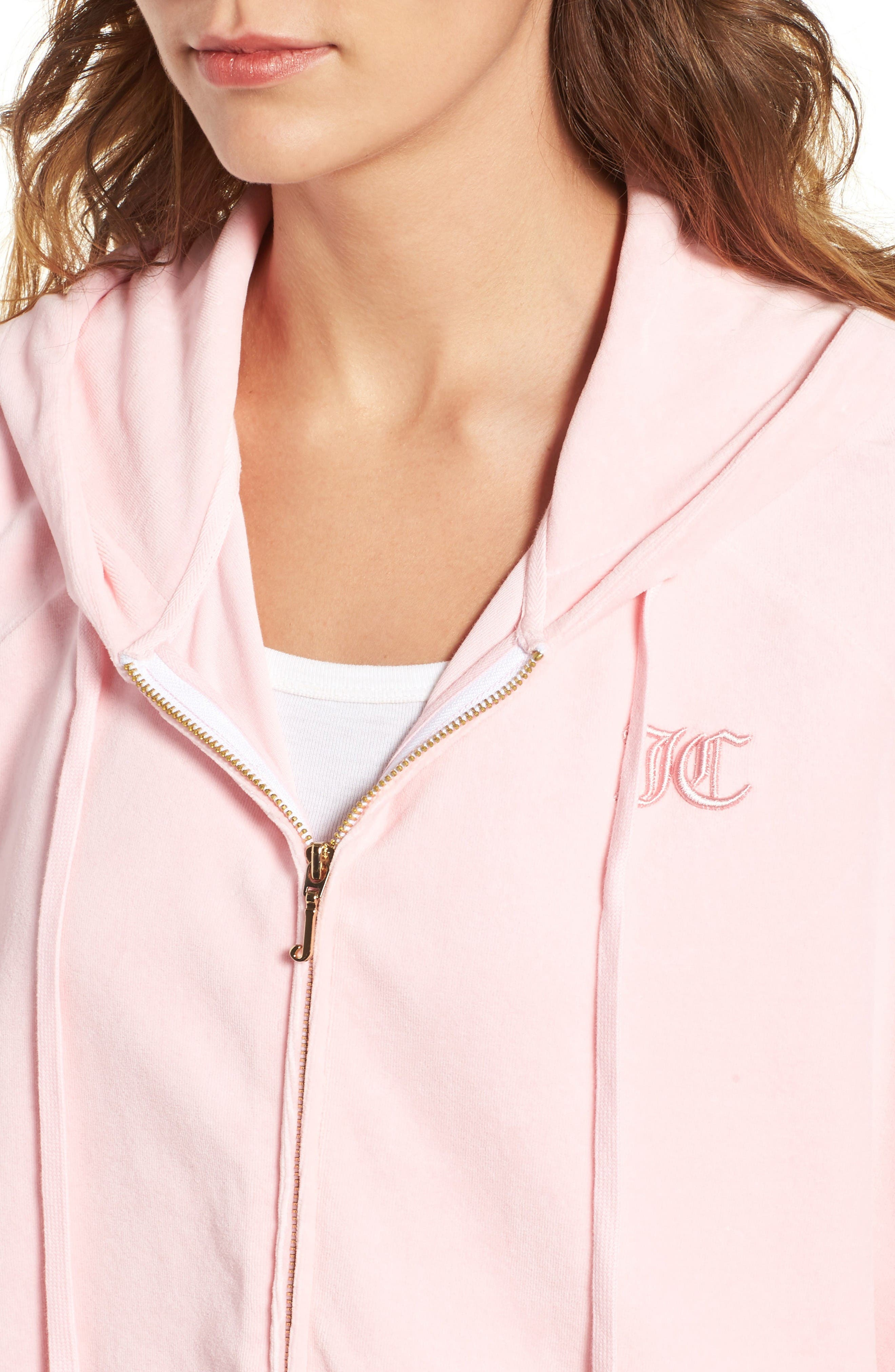 Alternate Image 4  - Juicy Couture Velour Cape Hoodie