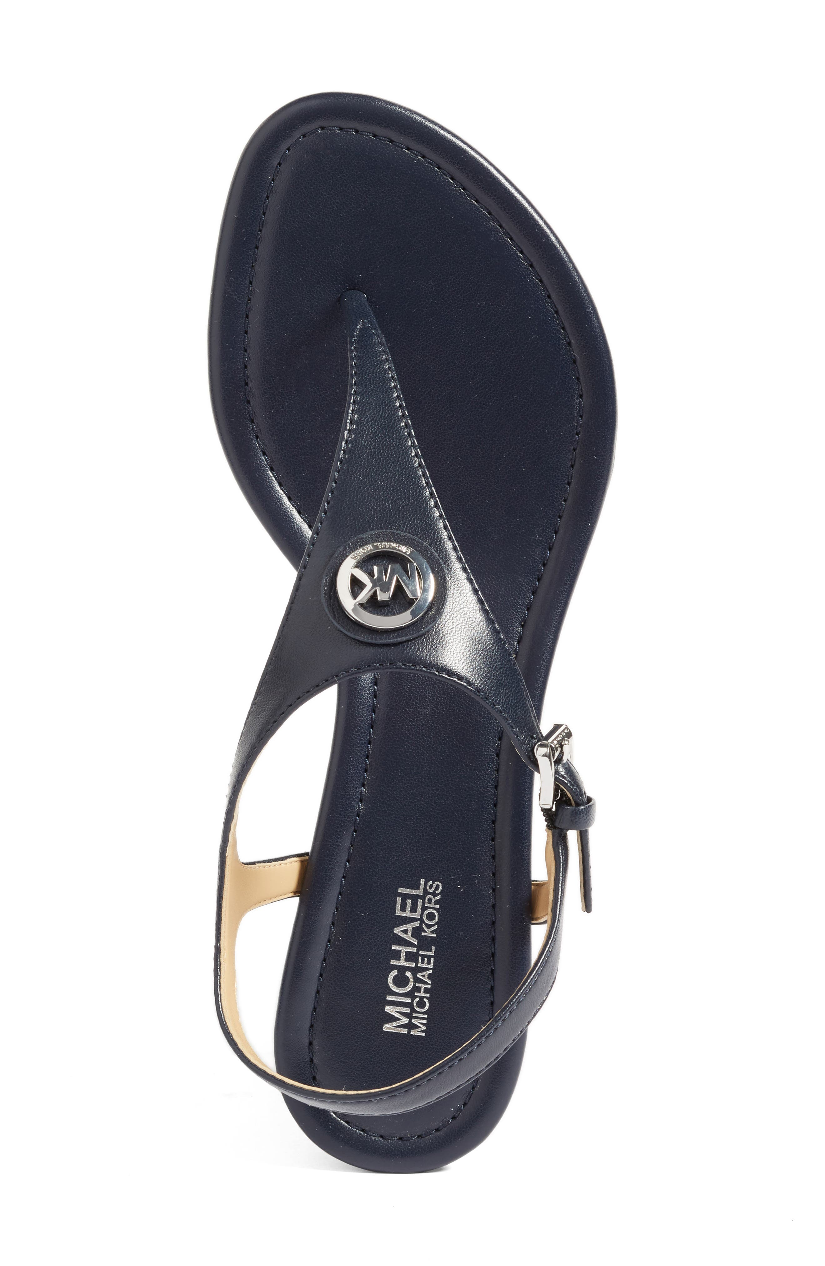 'Ramona' Wedge Sandal,                             Alternate thumbnail 3, color,                             Admiral Nappa Leather