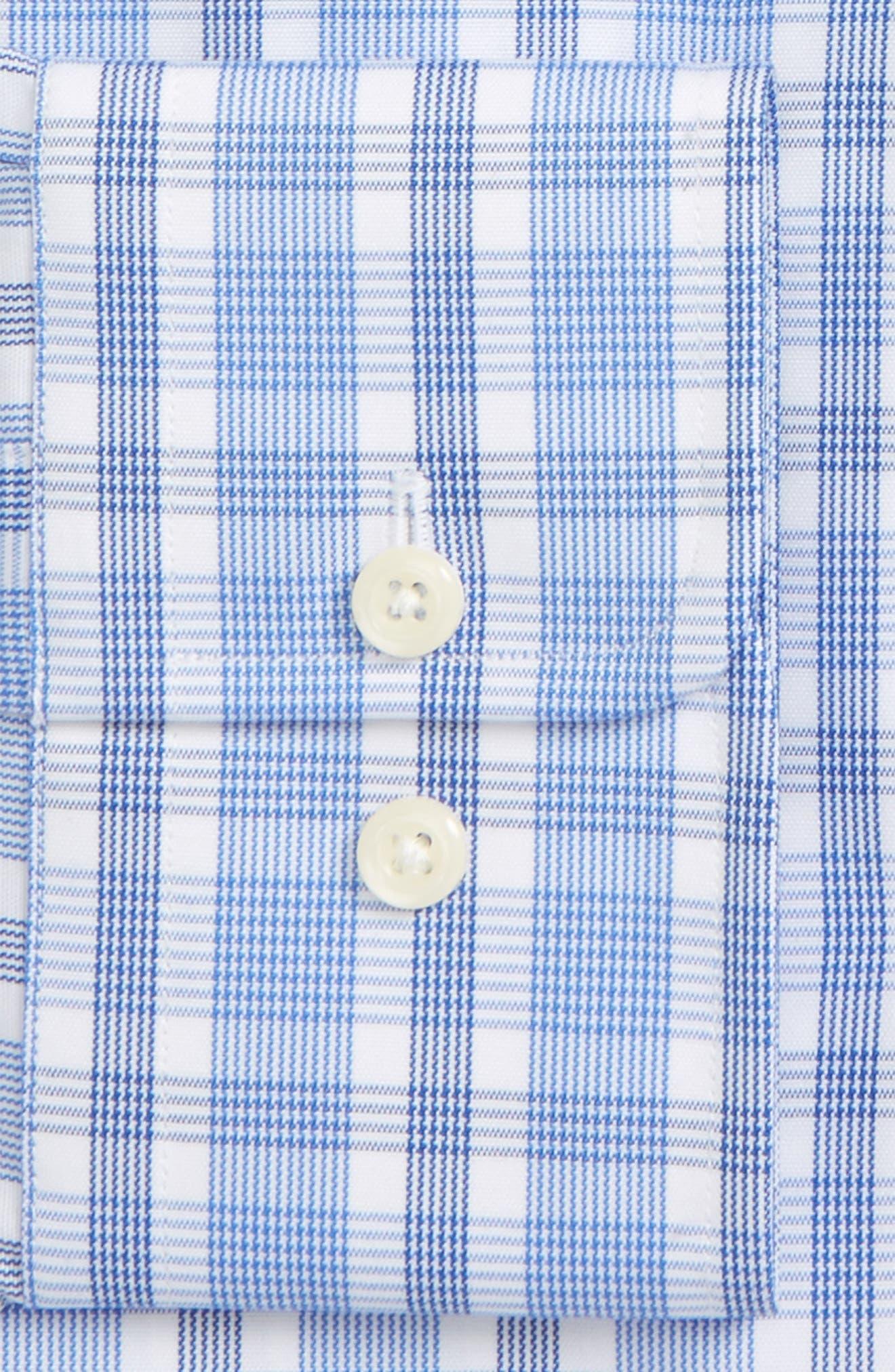 Regular Fit Check Dress Shirt,                             Alternate thumbnail 2, color,                             Blue/ Navy