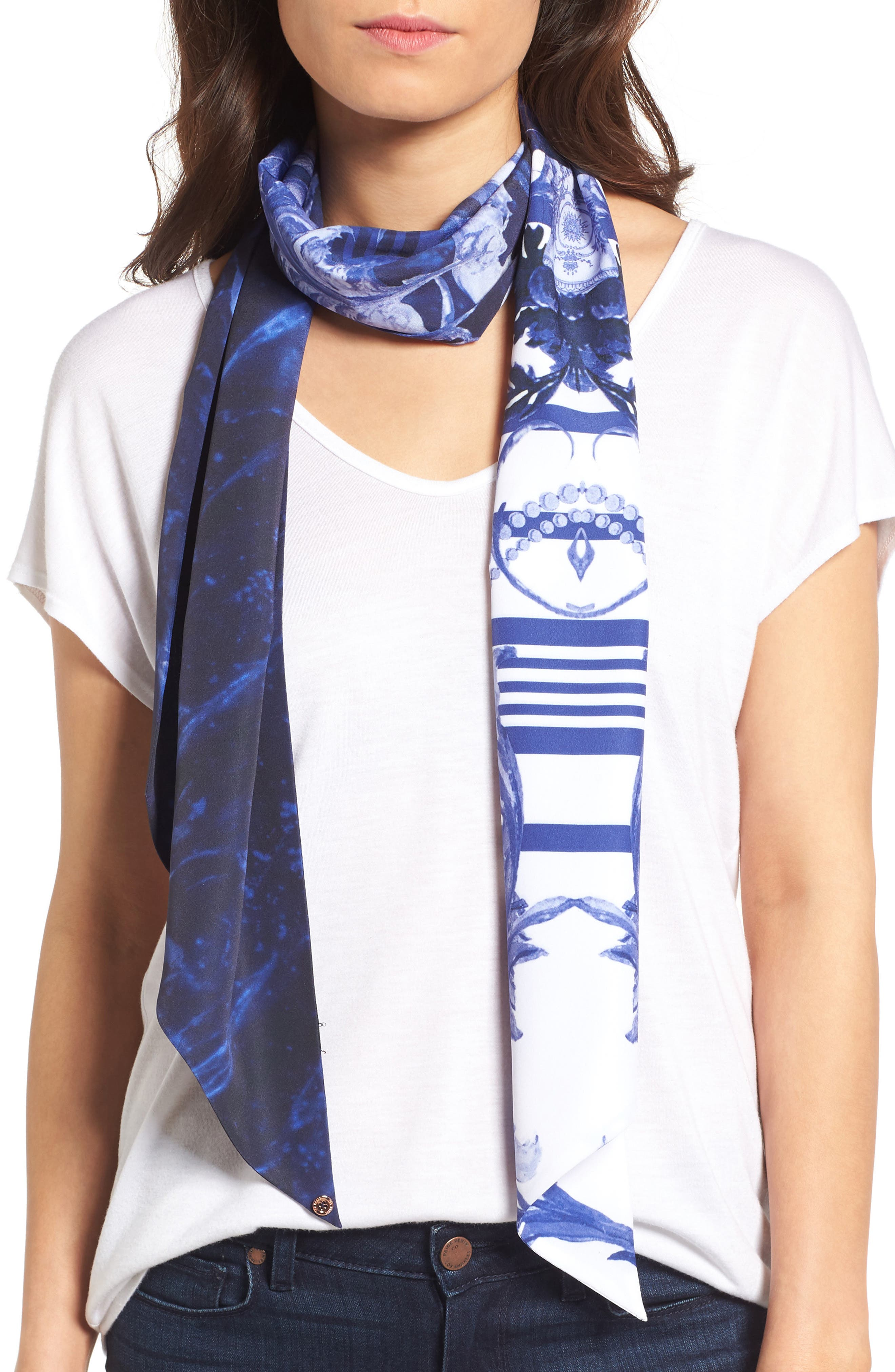 Ted Baker London Persian Blue Skinny Scarf