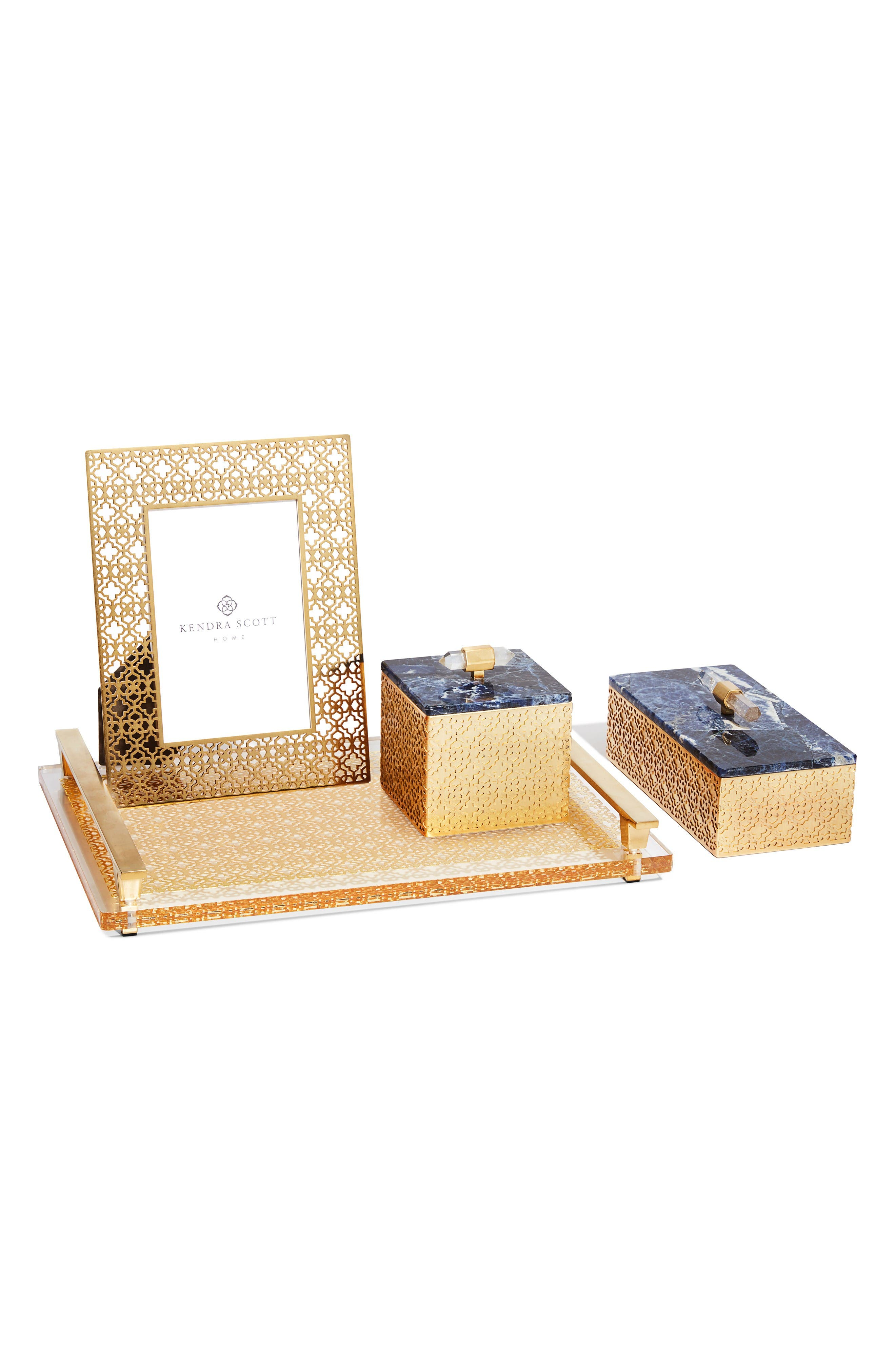 Filigree Picture Frame,                             Alternate thumbnail 3, color,                             Bright Brass