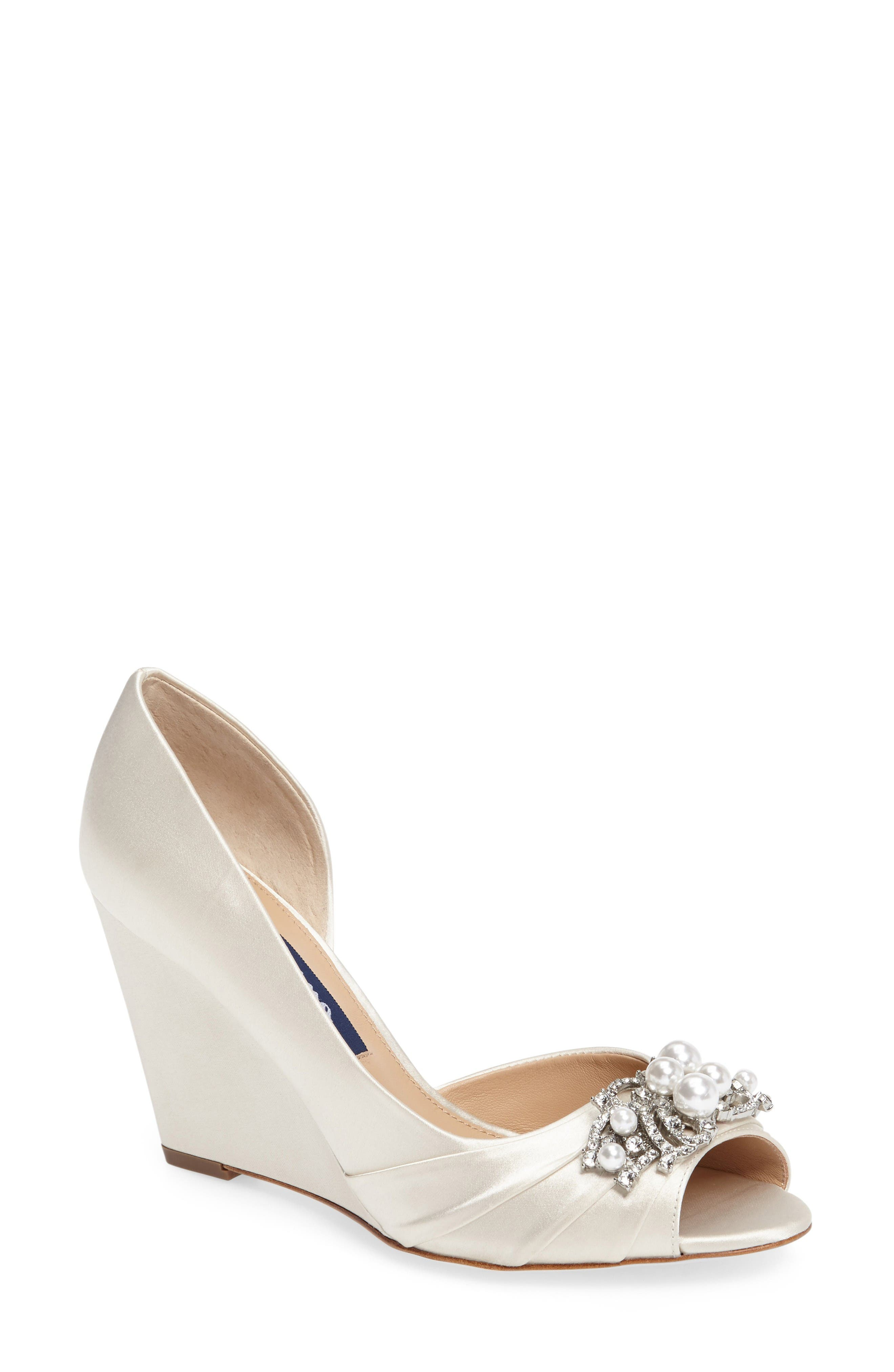 Nina Rona Swarovski Wedge Sandal (Women)