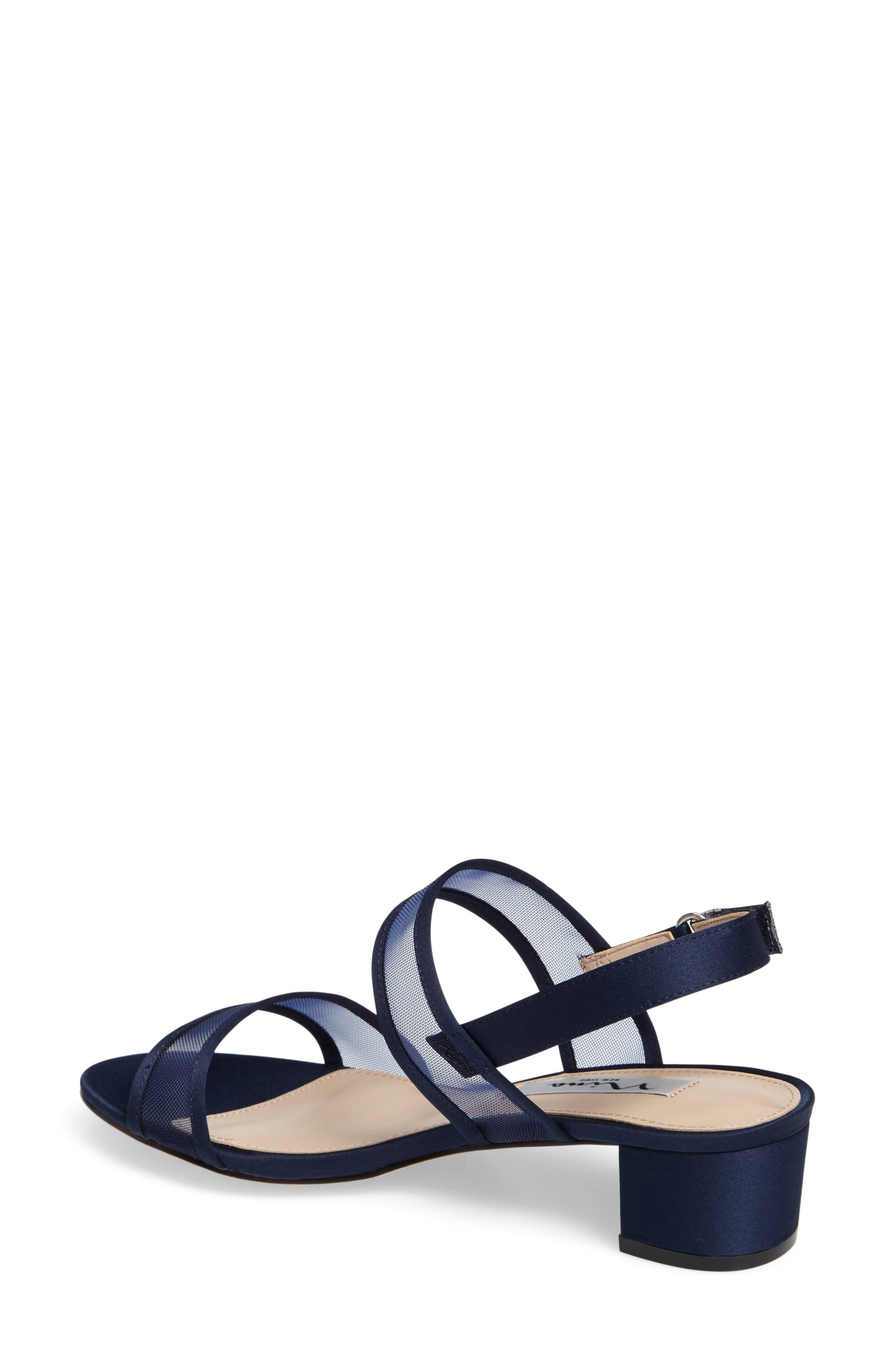 Ganice Mesh Strap Sandal,                             Alternate thumbnail 2, color,                             New Navy Satin