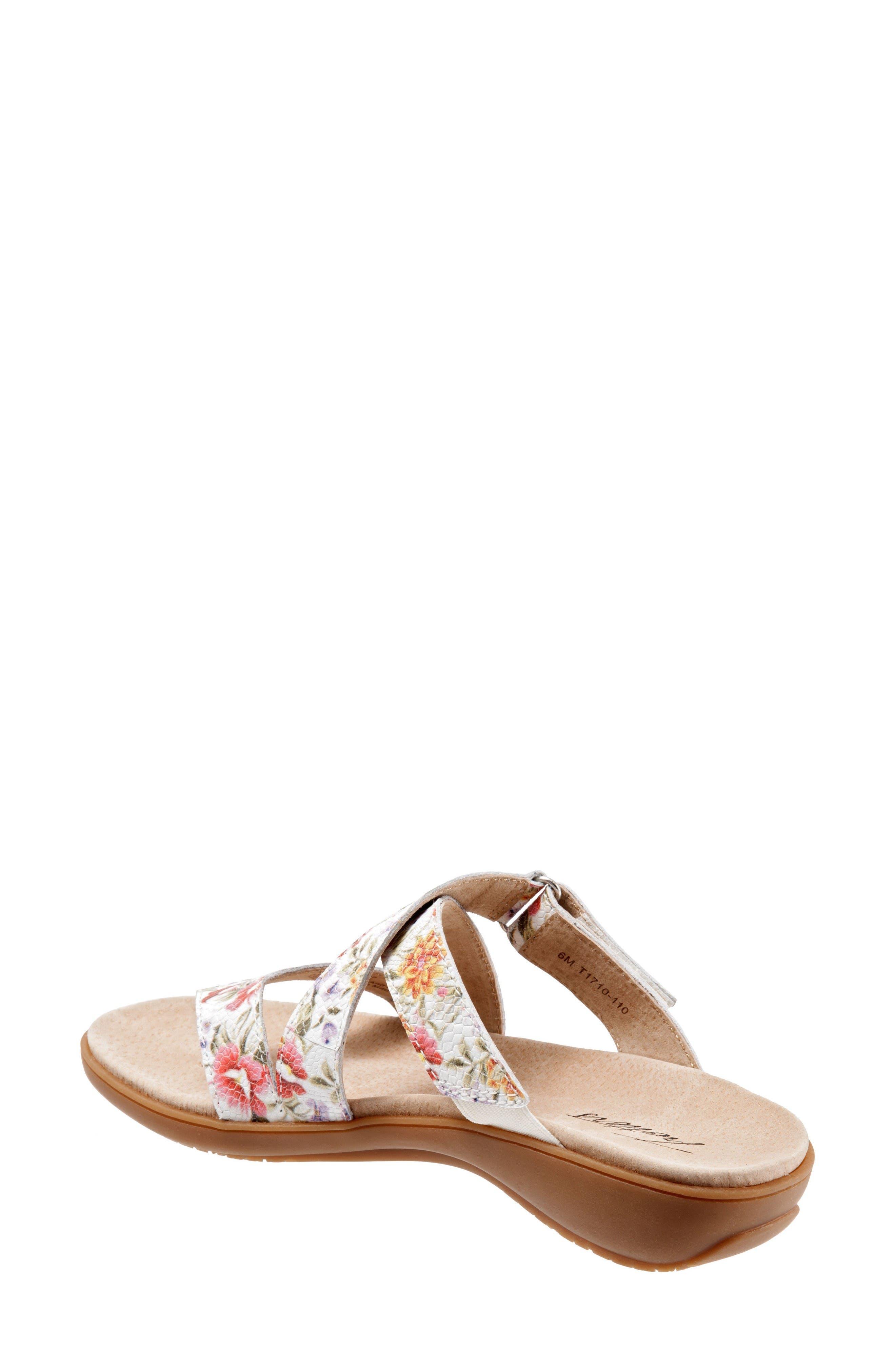Komet Thong Sandal,                             Alternate thumbnail 2, color,                             Off White Floral Leather