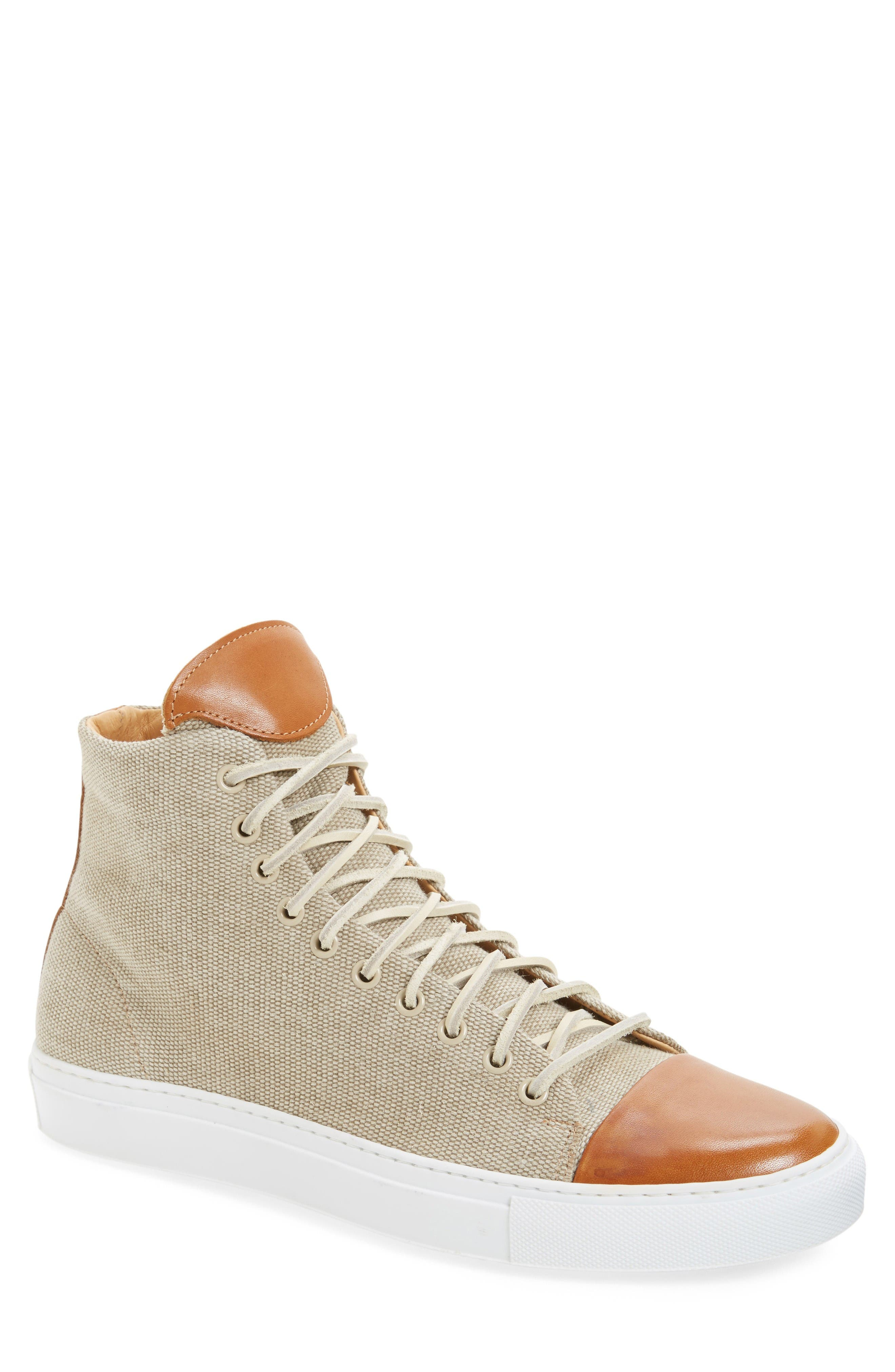 Good Sport High Top Sneaker,                             Main thumbnail 1, color,                             Sand Canvas