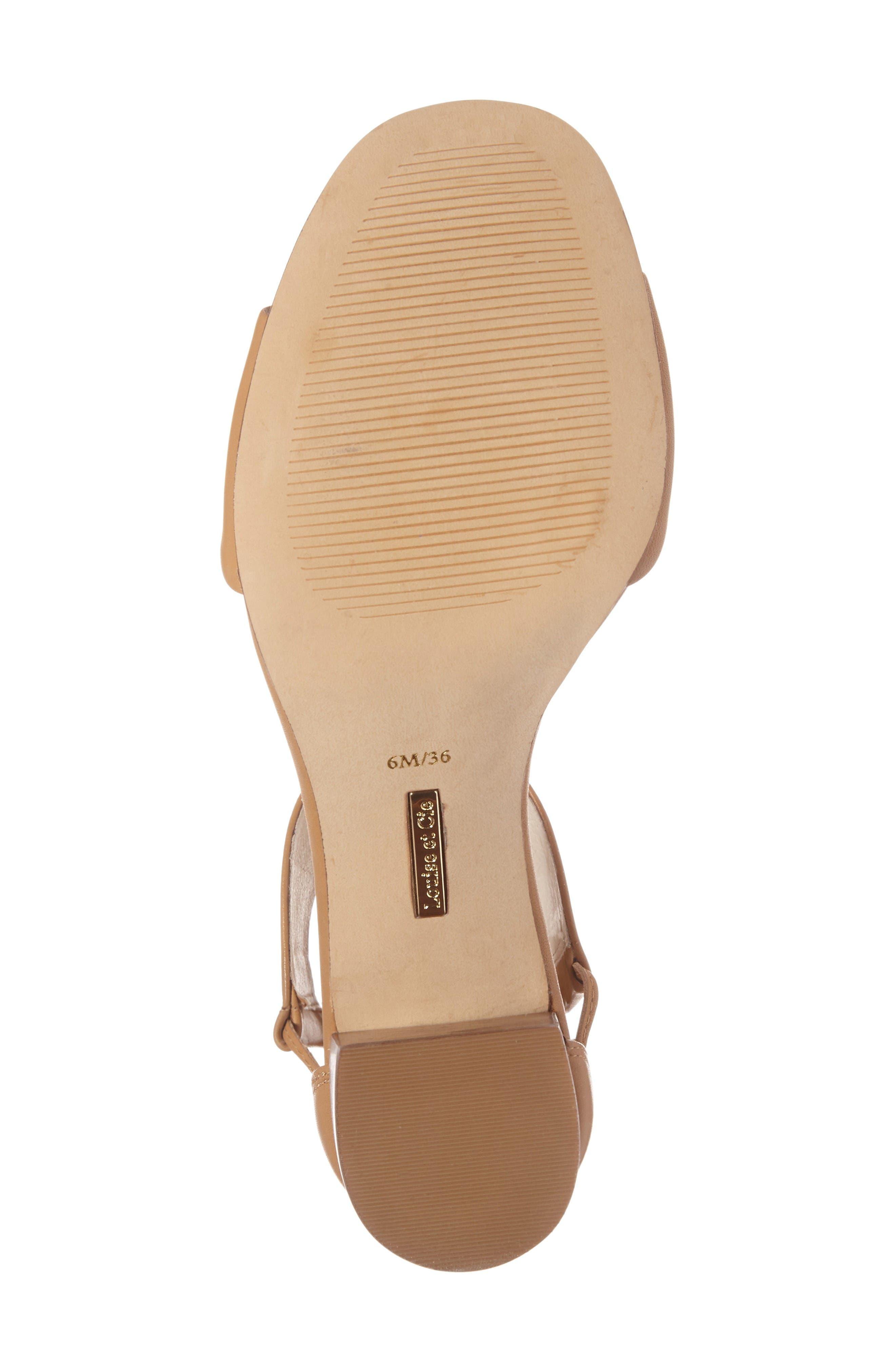 Keegan Block Heel Sandal,                             Alternate thumbnail 4, color,                             True Tan Leather