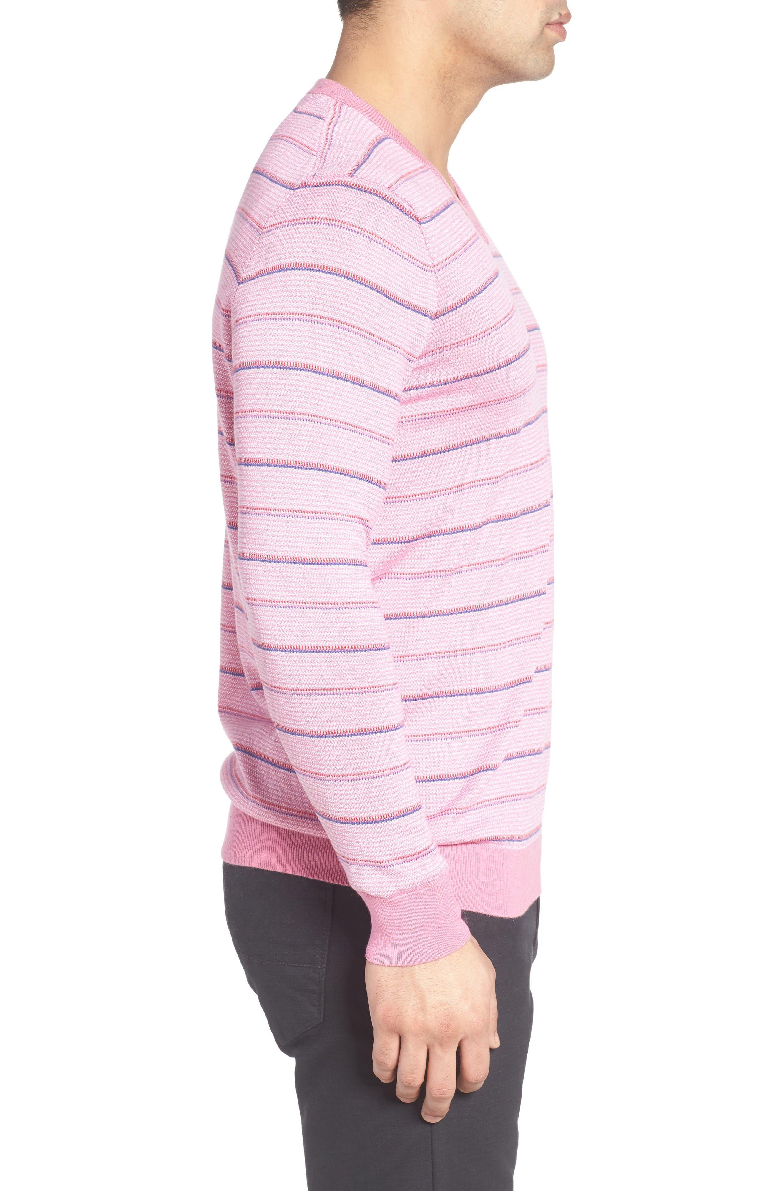 Alternate Image 3  - Bugatchi Stripe Silk Blend Sweater