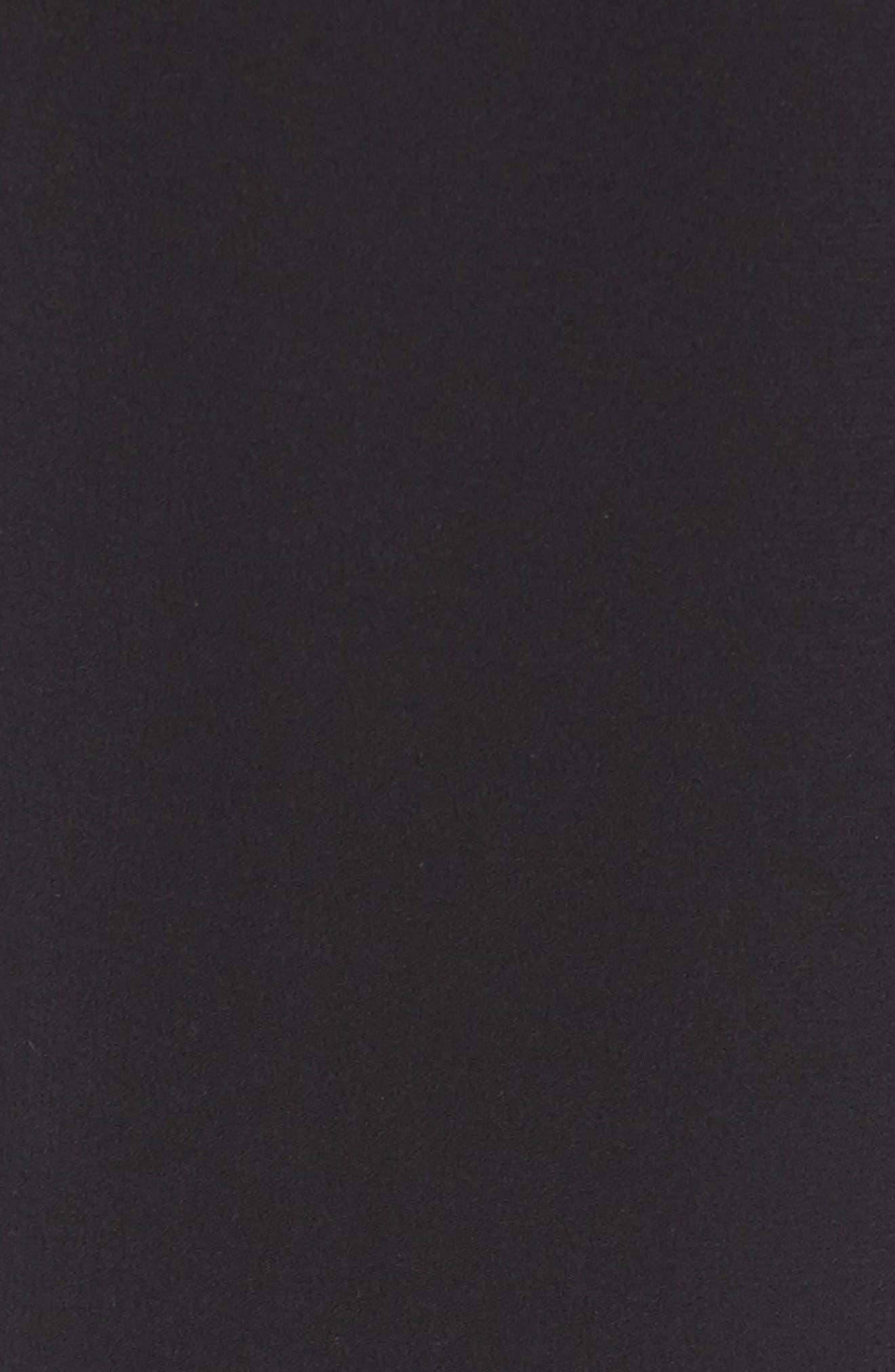 Slouchy Silk Crepe Ankle Pants,                             Alternate thumbnail 6, color,                             Black