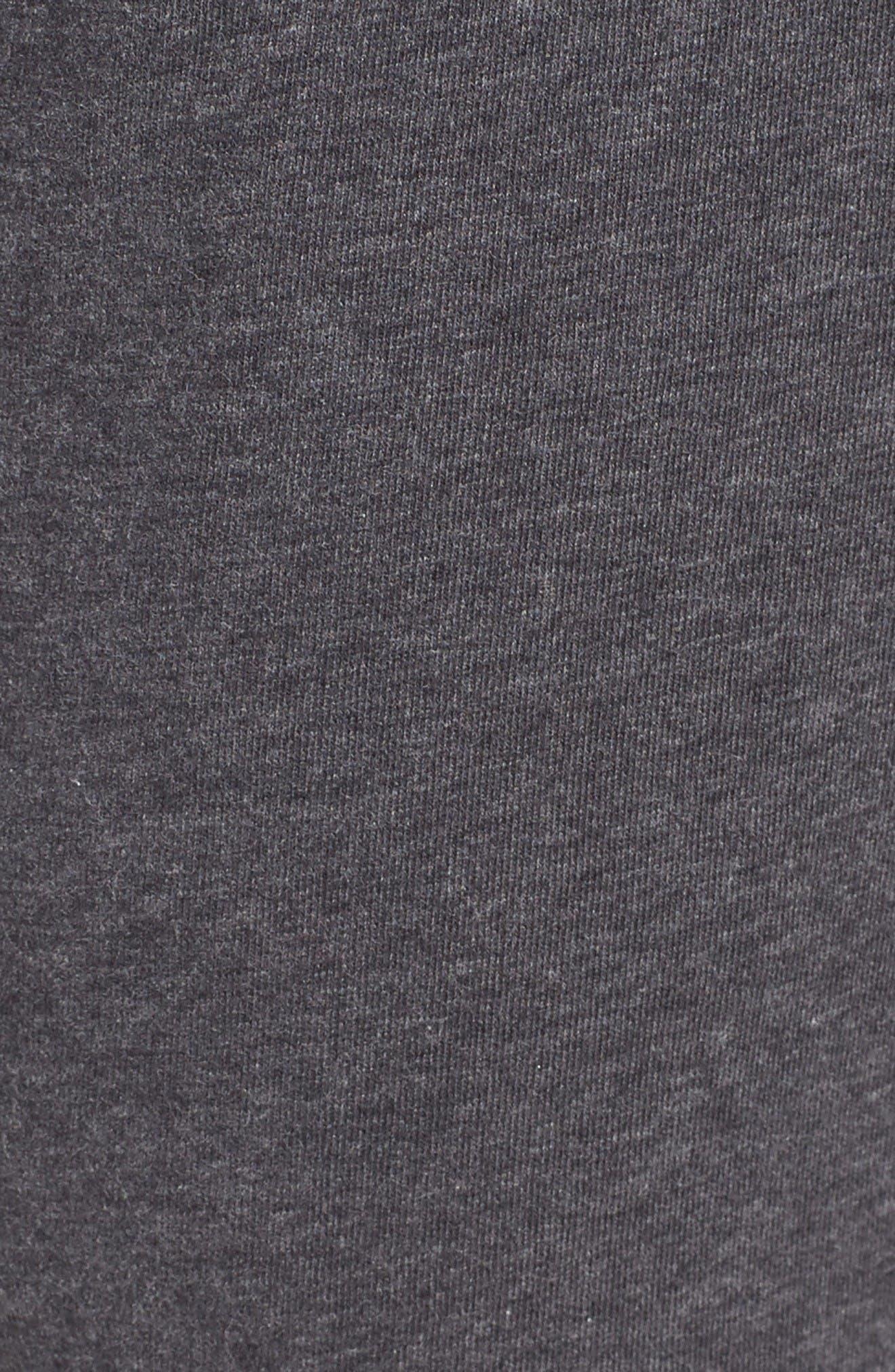 Stretch Cotton Lounge Pants,                             Alternate thumbnail 5, color,                             Grey Charcoal