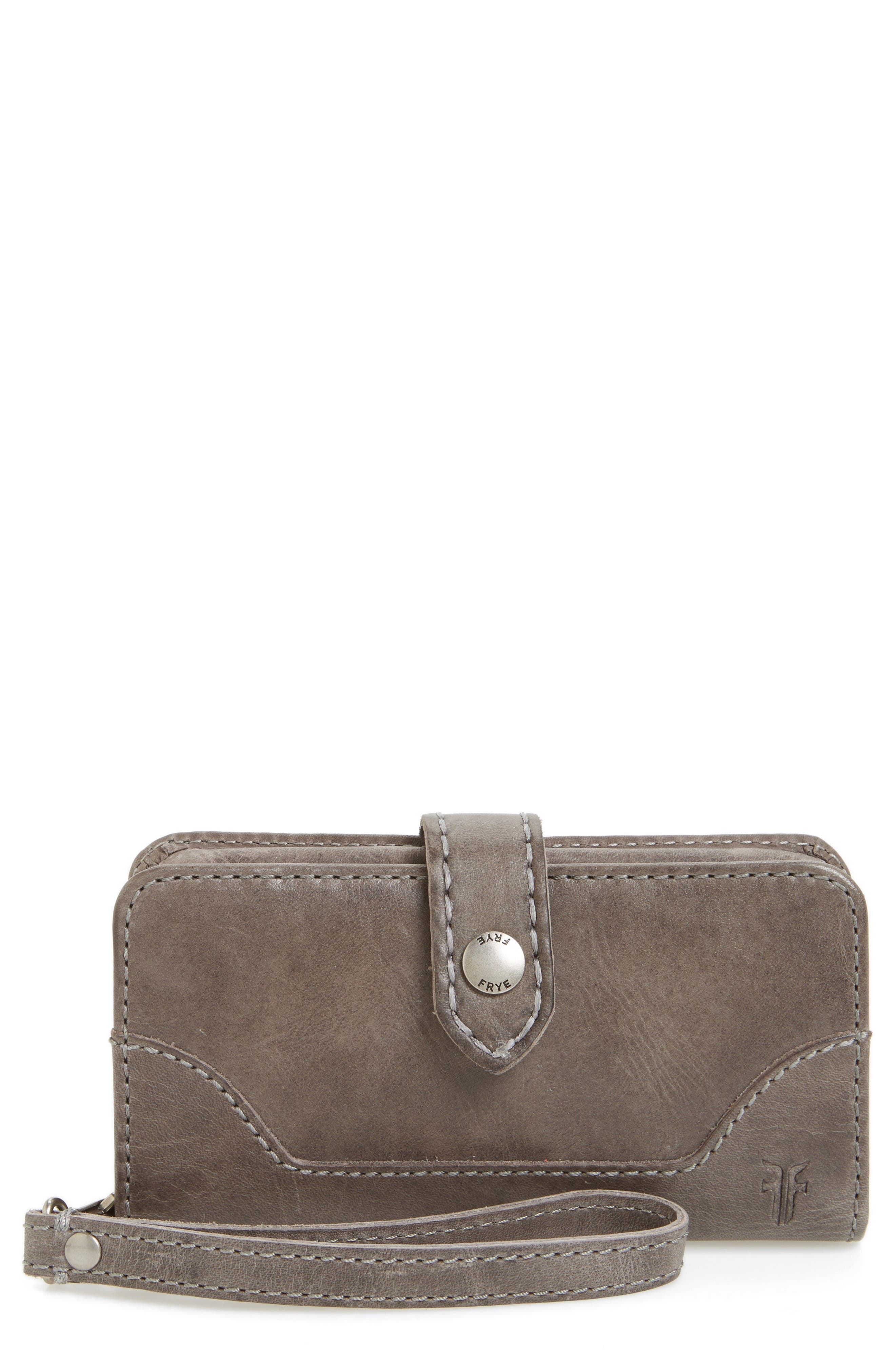 Frye 'Melissa' Leather Phone Wallet